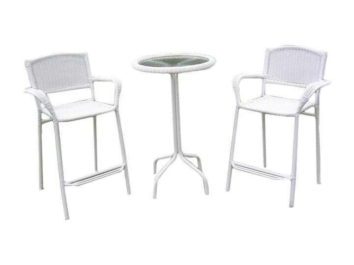 Narron 3 Piece Bar Height Dining Set Finish: White