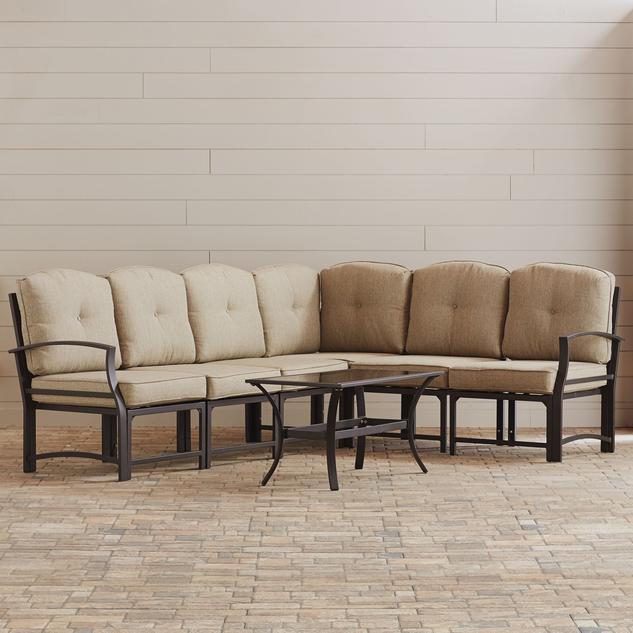 Pavilion 7 Piece Sectional Set with Cushions