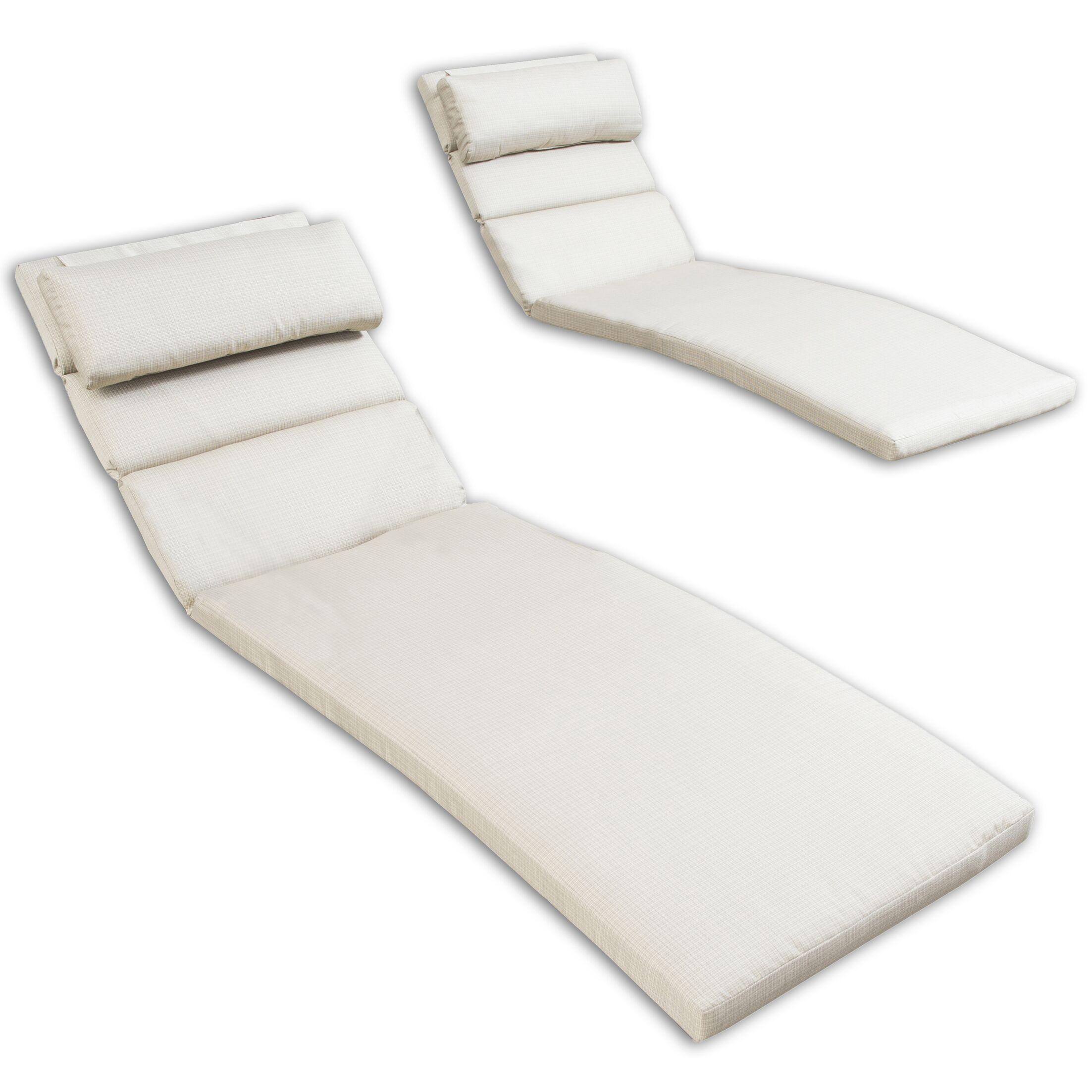 Northridge Outdoor Sunbrella Chaise Lounge Cushions Fabric: Slate Grey
