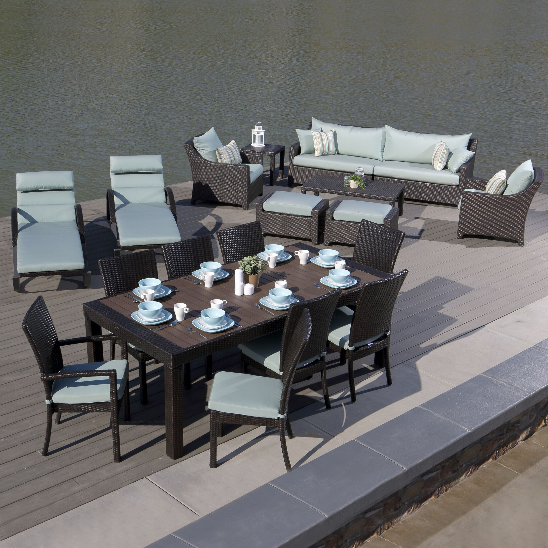 Northridge 19 Piece Complete Patio Set with Cushions