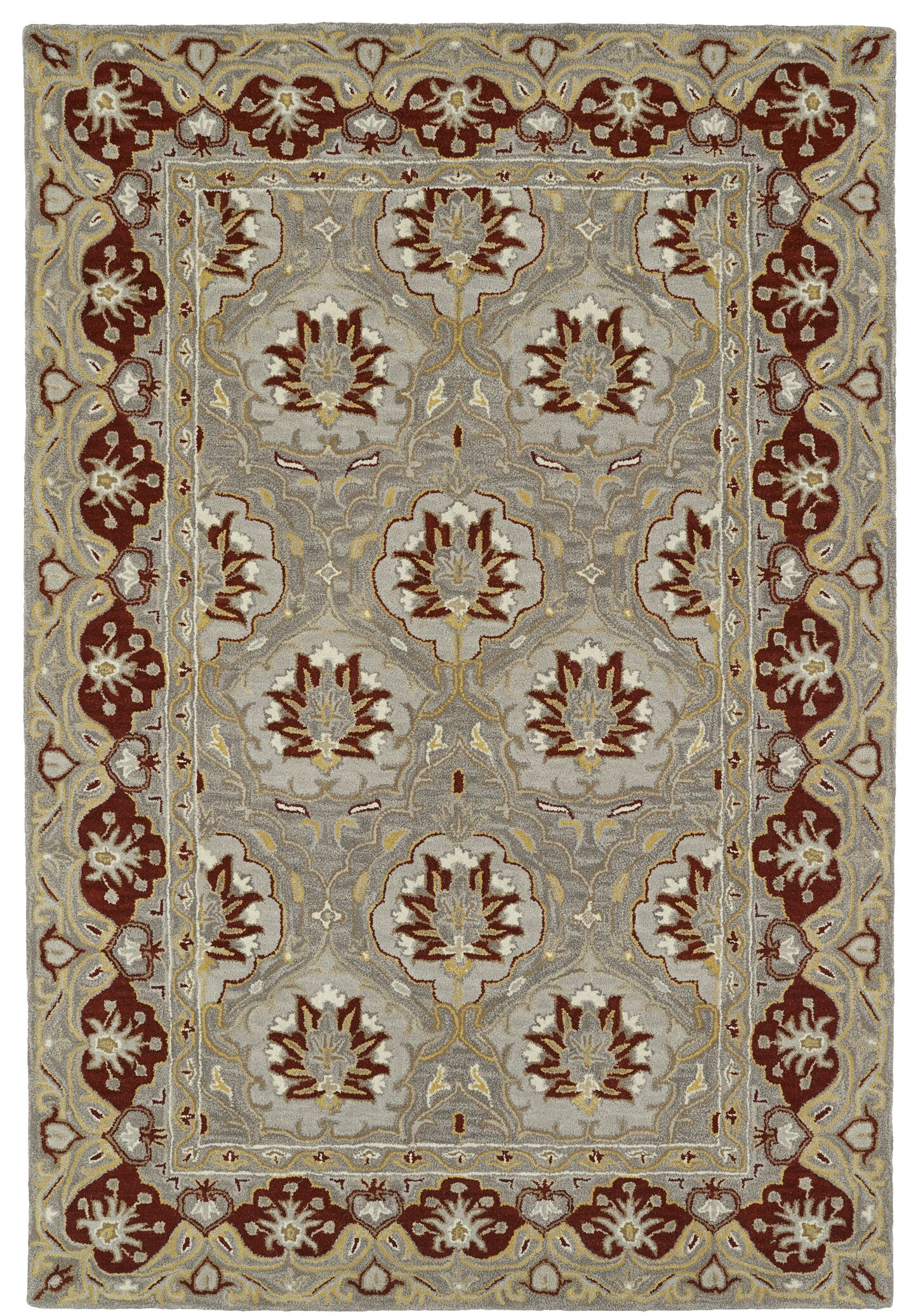 Curtiss Traditional Handmade Wool Area Rug Rug Size: Rectangle 2' x 3'