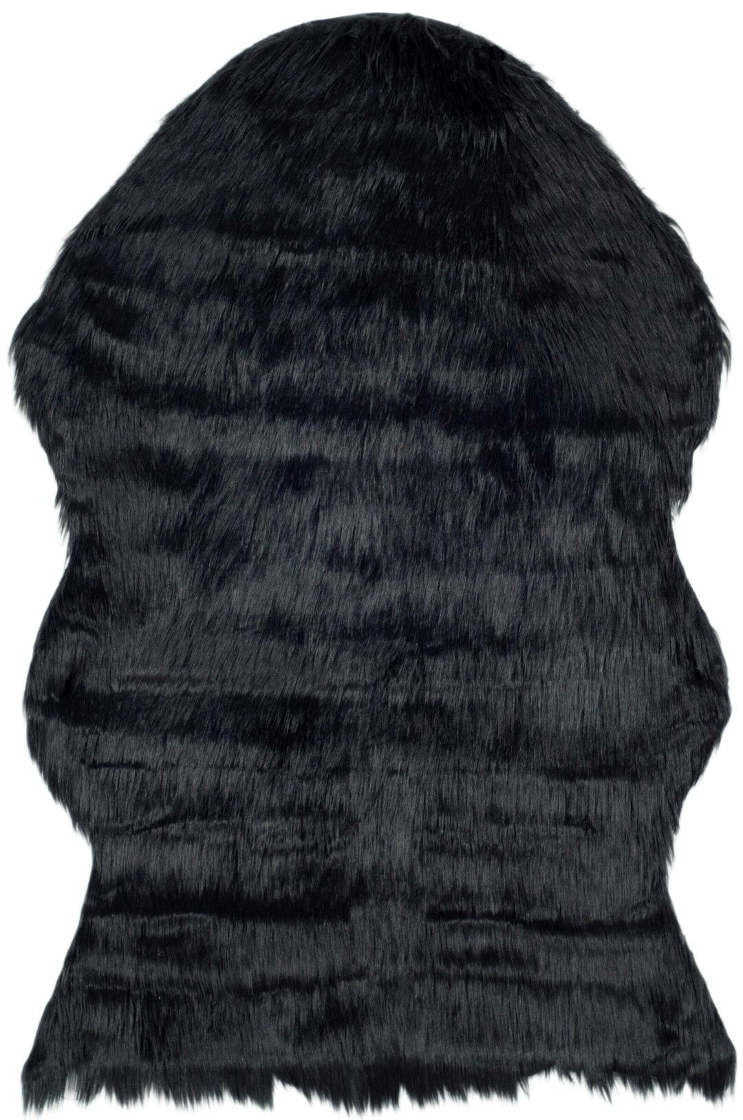 Isacc TuftedFaux Sheepskin Black Area Rug Rug Size: Runner 2'6