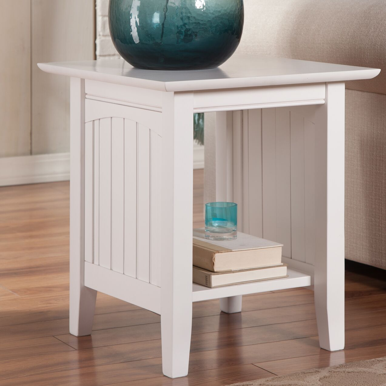 Orangetown End Table Color: White