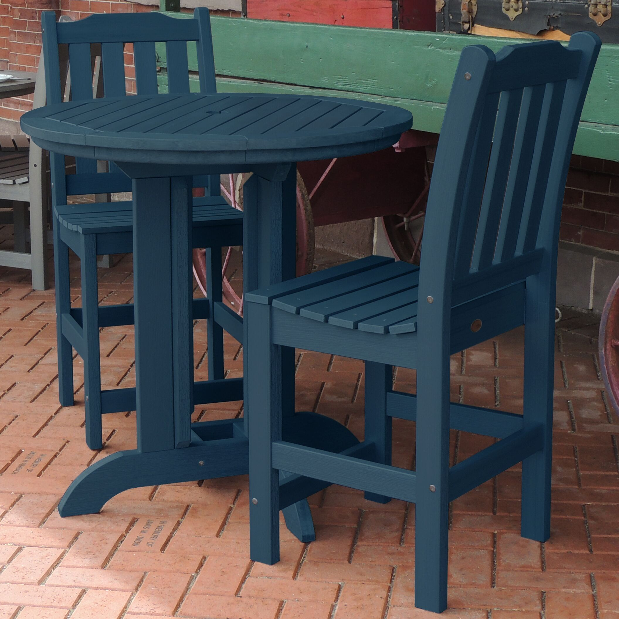 Hinton Charterhouse 3 Piece Counter Height Dining Set Finish: Nantucket Blue