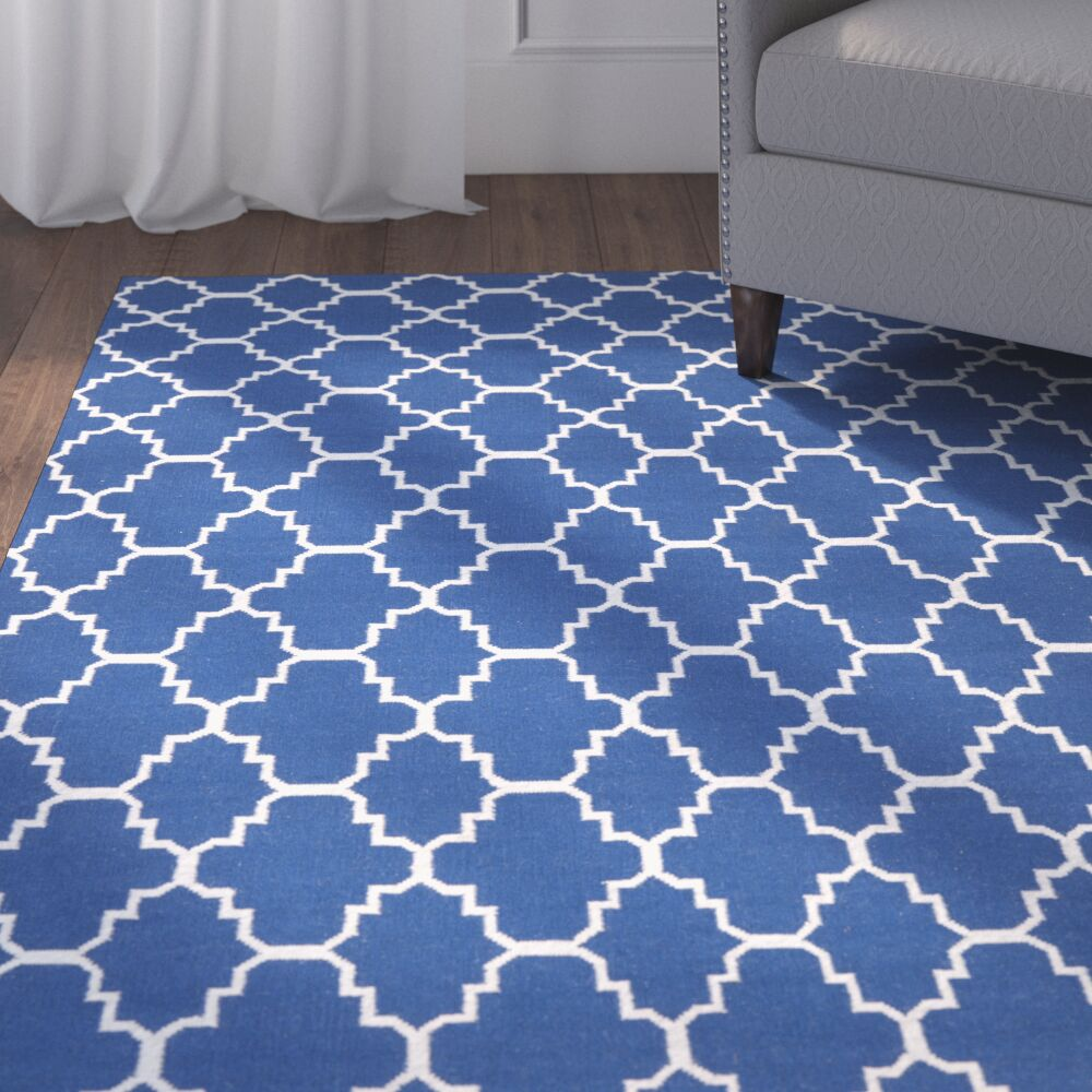 Danbury Dark Blue/Ivory Area Rug Rug Size: Square 8'