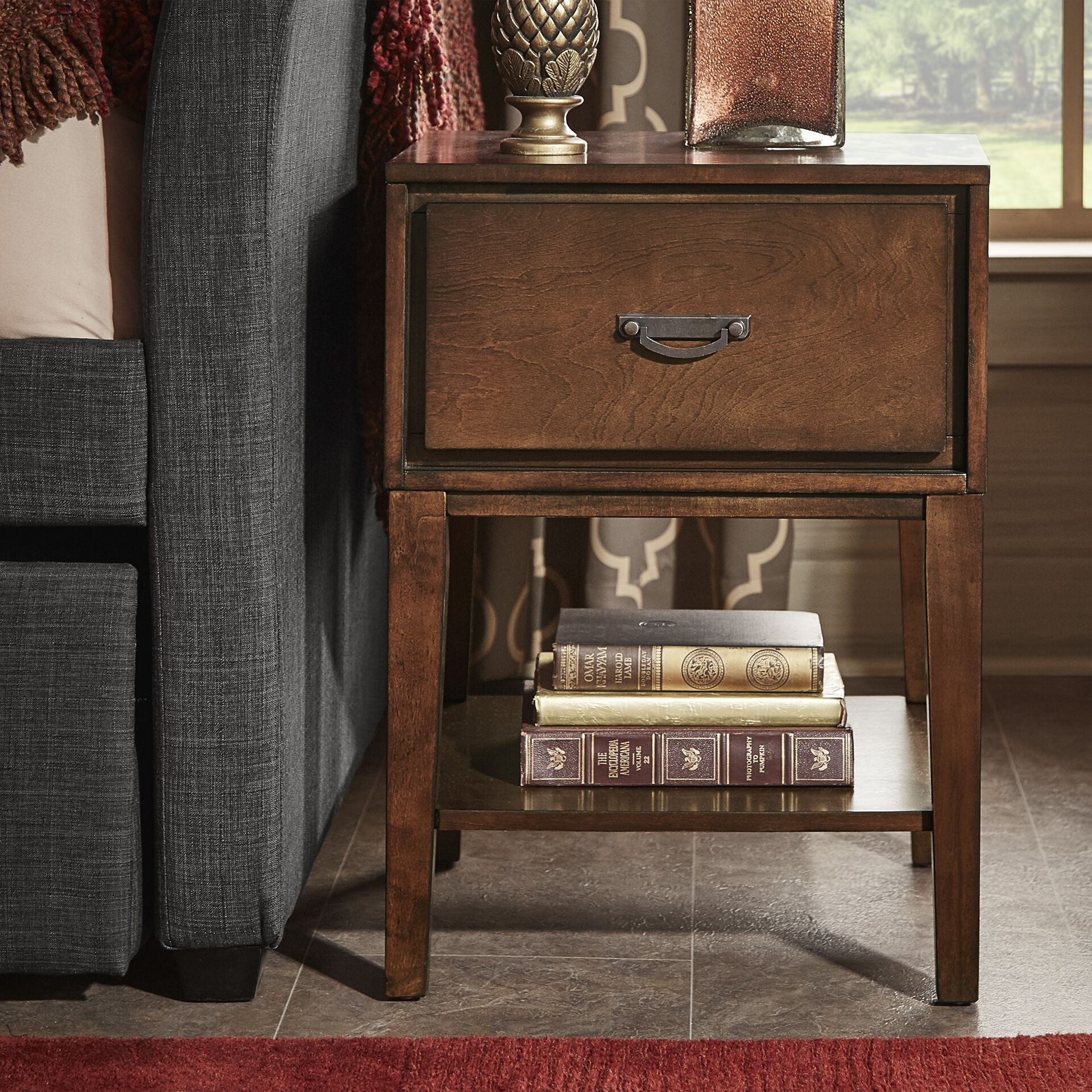 Richboro 1 Drawer Nightstand Color: Espresso