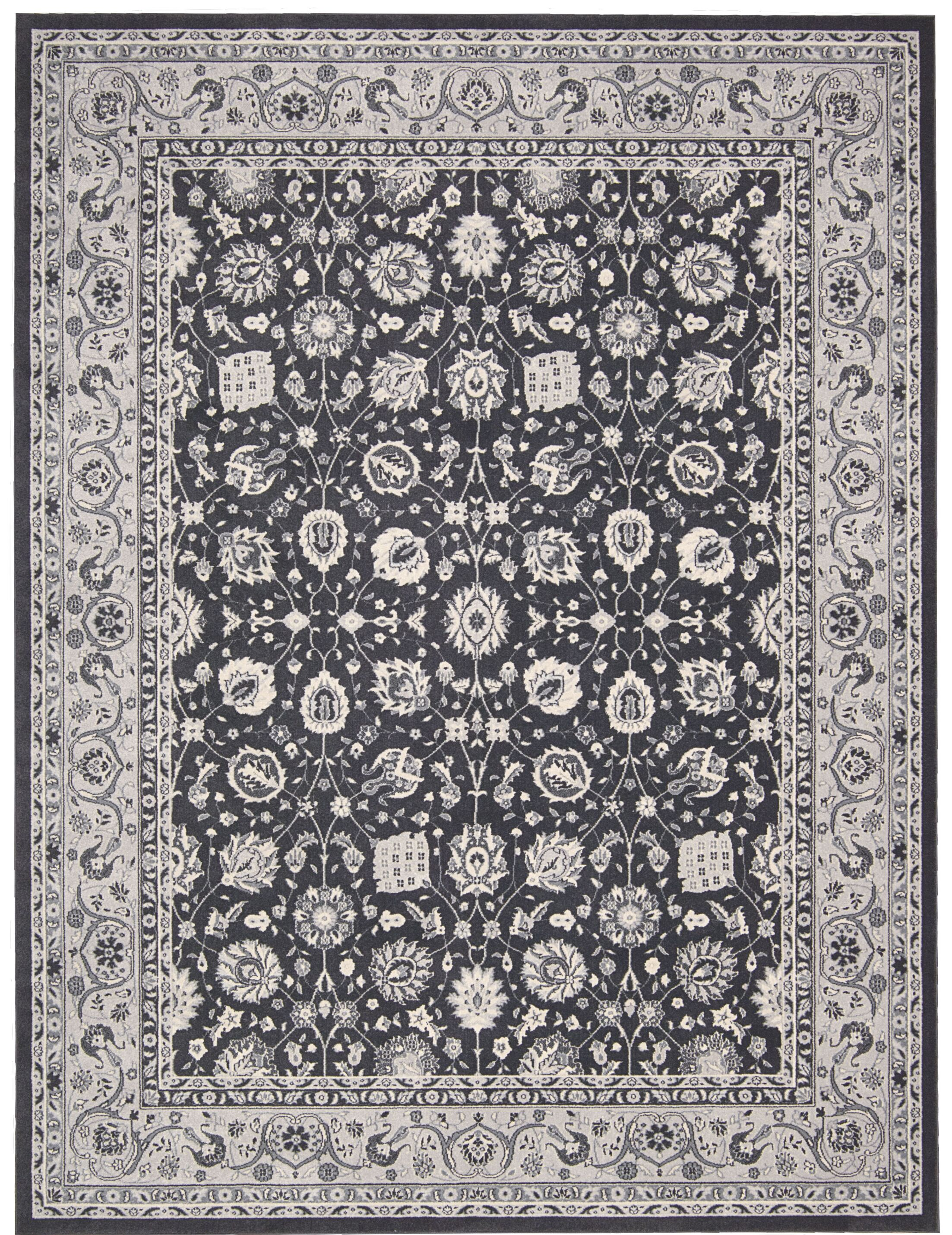 Lamarche Charcoal Area Rug Rug Size: Rectangle 3'9