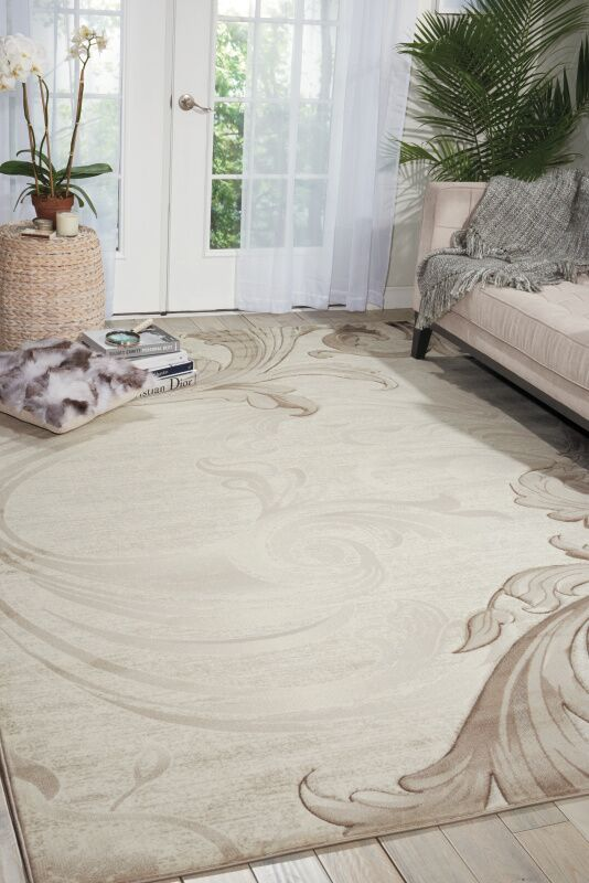 Shelley Beige Area Rug Rug Size: Rectangle 5'3