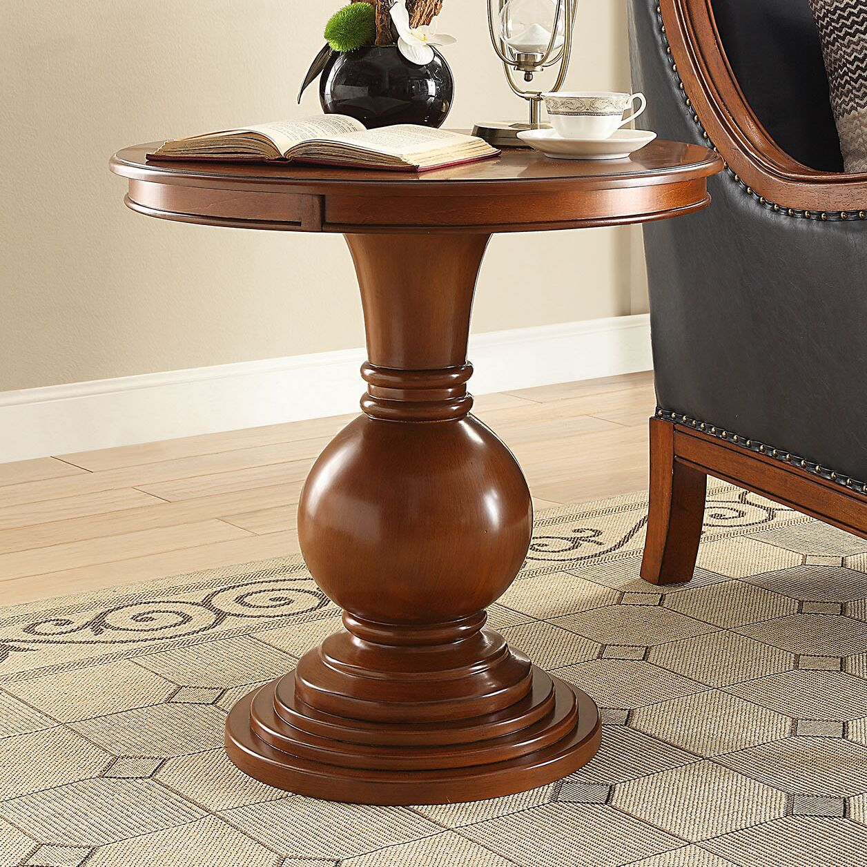Loganville End Table Color: Burnt Chestnut