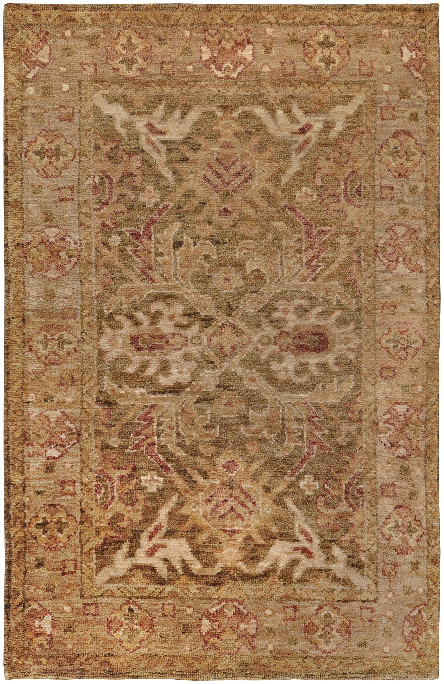 Curry Honey/Green Rug Rug Size: Rectangle 3'3