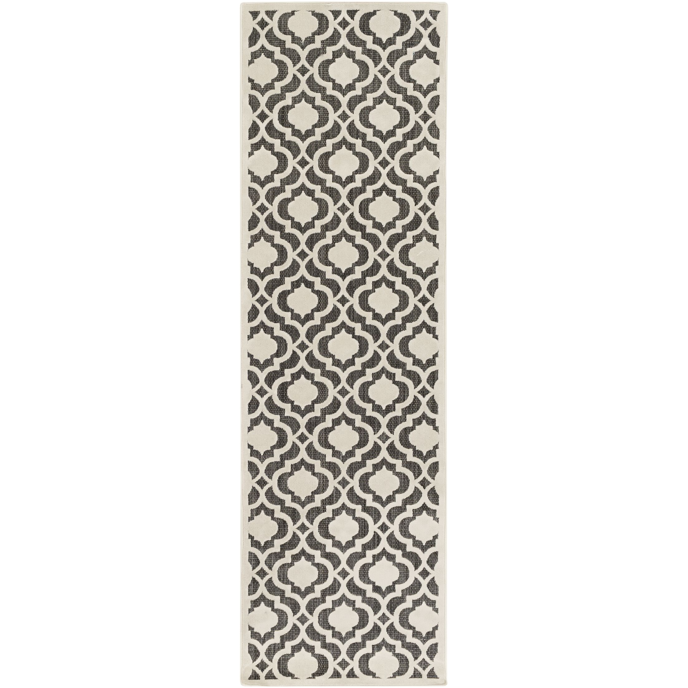 Countryman Ivory/Black Indoor/Outdoor Area Rug Rug Size: Rectangle 3'9