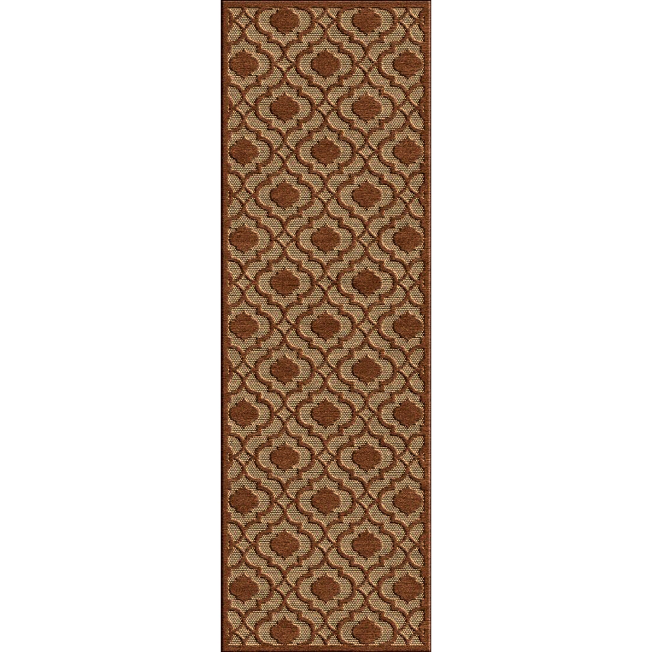 Countryman Rust/Tan Indoor/Outdoor Area Rug Rug Size: Rectangle 5' x 7'6