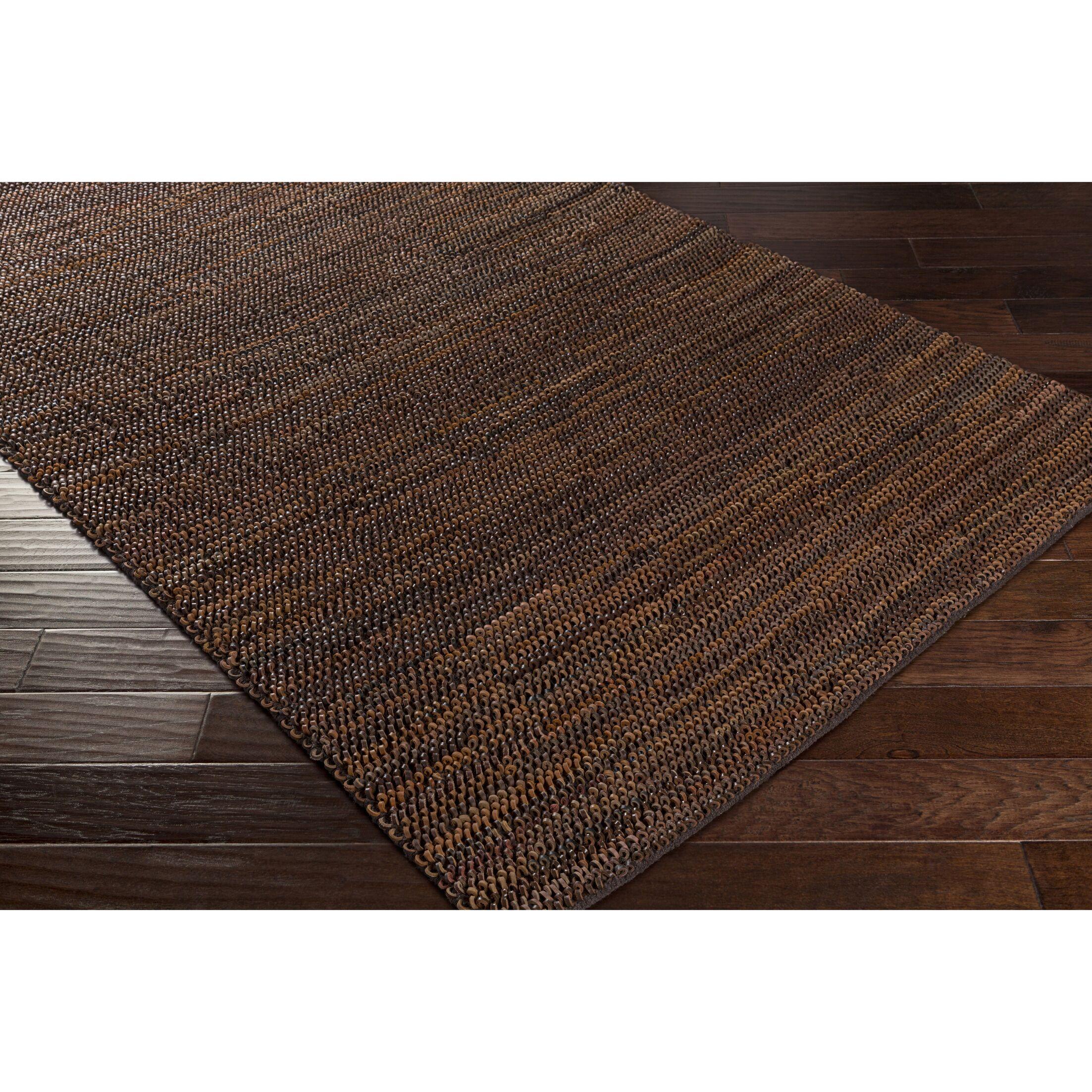 Desousa Hand-Woven Brown Area Rug Rug Size: Rectangle 5' x 7'6