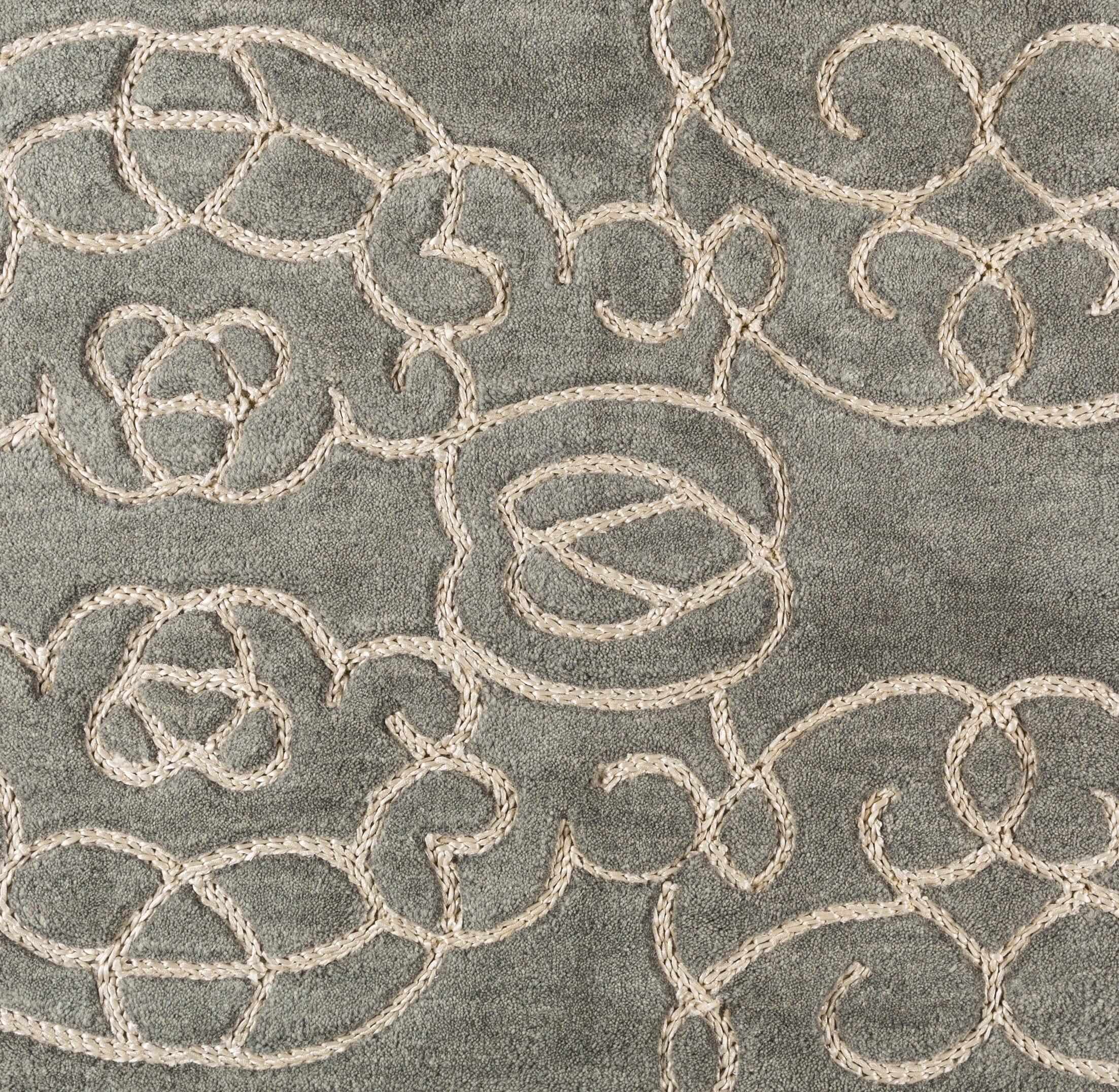 Desroches Hand-Tufted Green Area Rug Rug Size: Rectangle 8' x 10'
