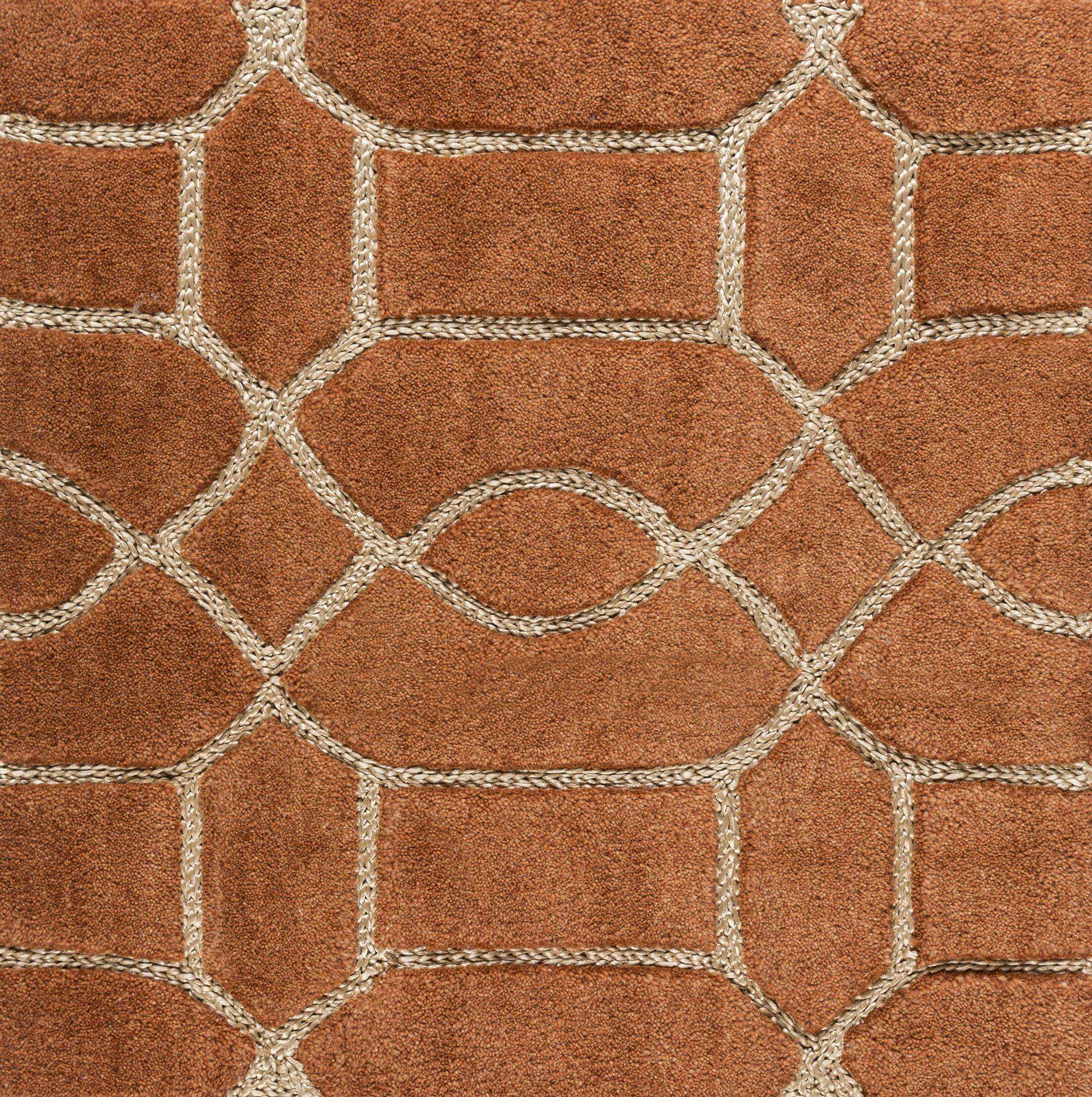 Desroches Hand-Tufted Orange/Beige Area Rug Rug Size: Rectangle 5' x 7'6