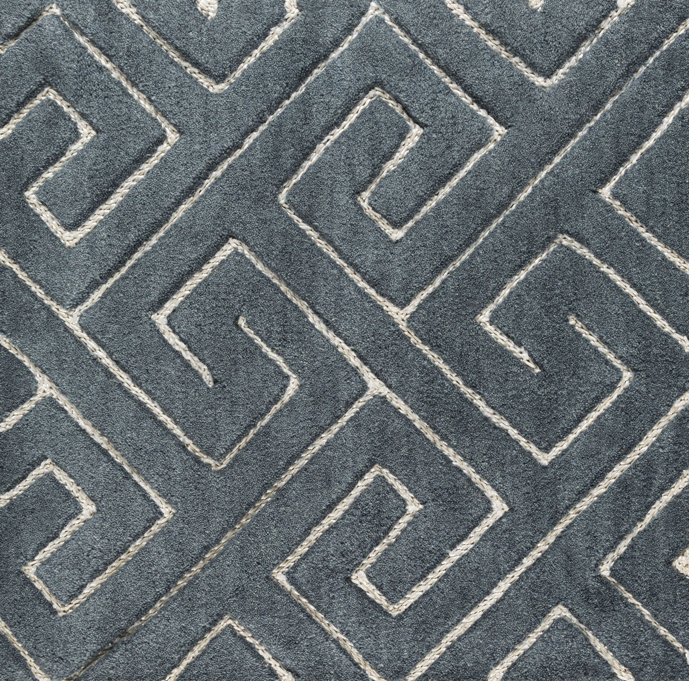 Hereford Hand-Tufted Gray Area Rug Rug Size: Rectangle 8' x 10'
