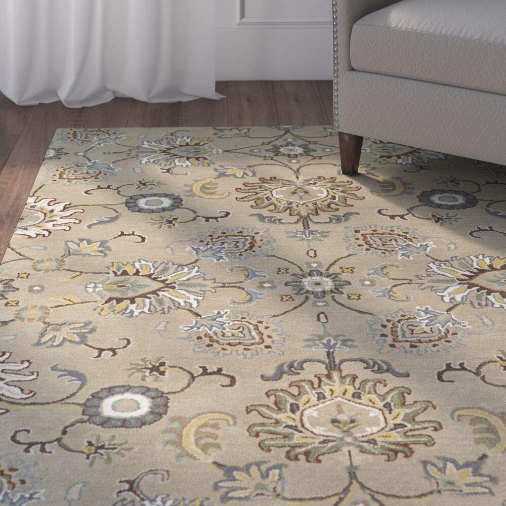 Lyndora Traditional Handmade Area Rug Rug Size: Rectangle 5' x 7'9