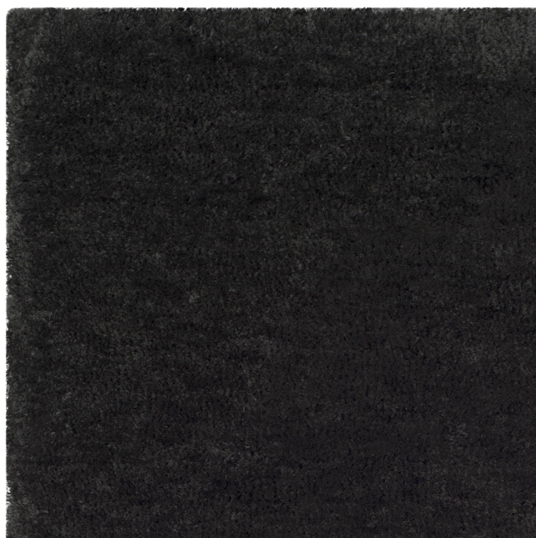 Detweiler Hand-Tufted Charcoal Area Rug Rug Size: Square 6'