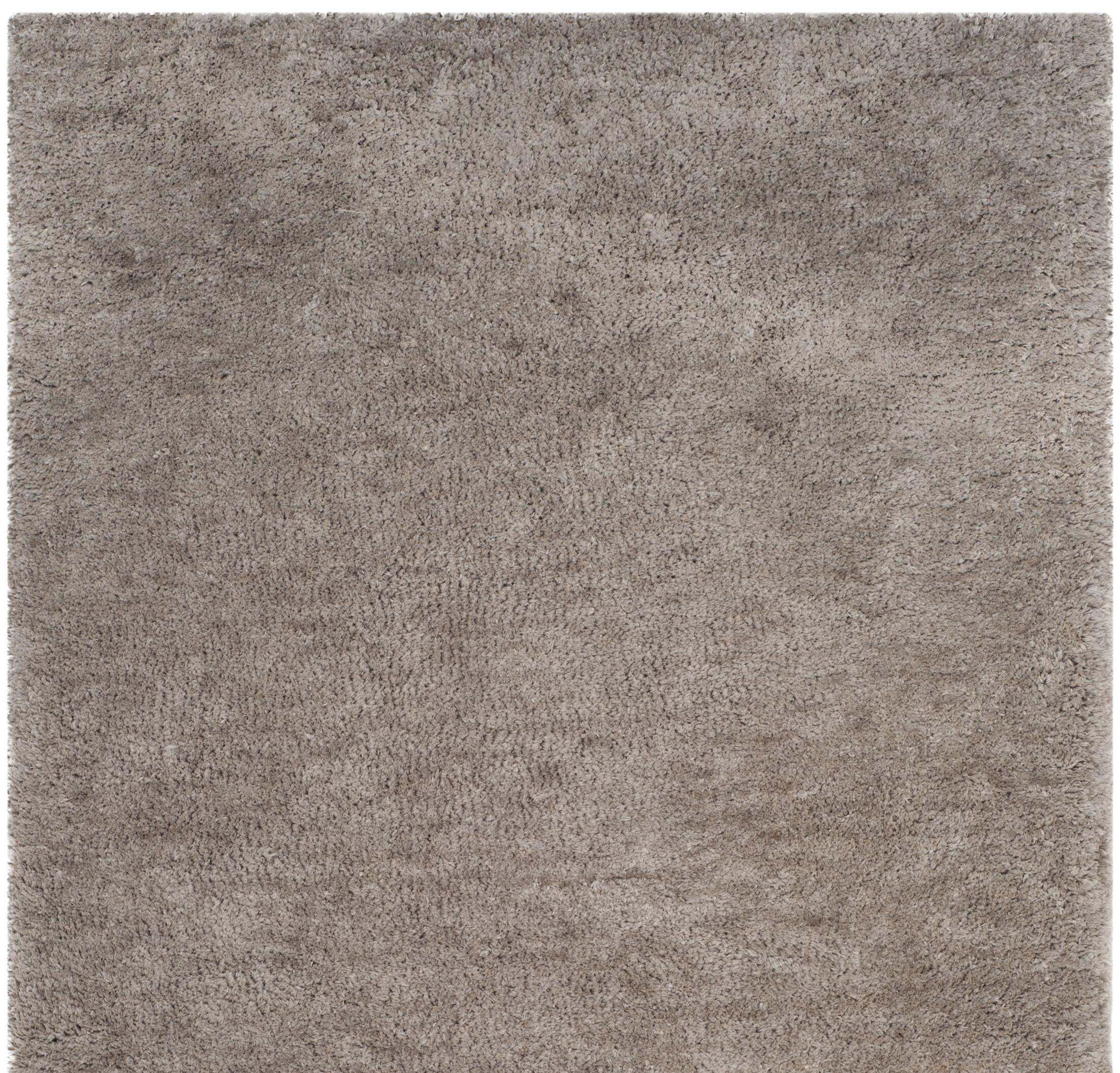 Detweiler Hand-Tufted Gray Area Rug Rug Size: Round 6'