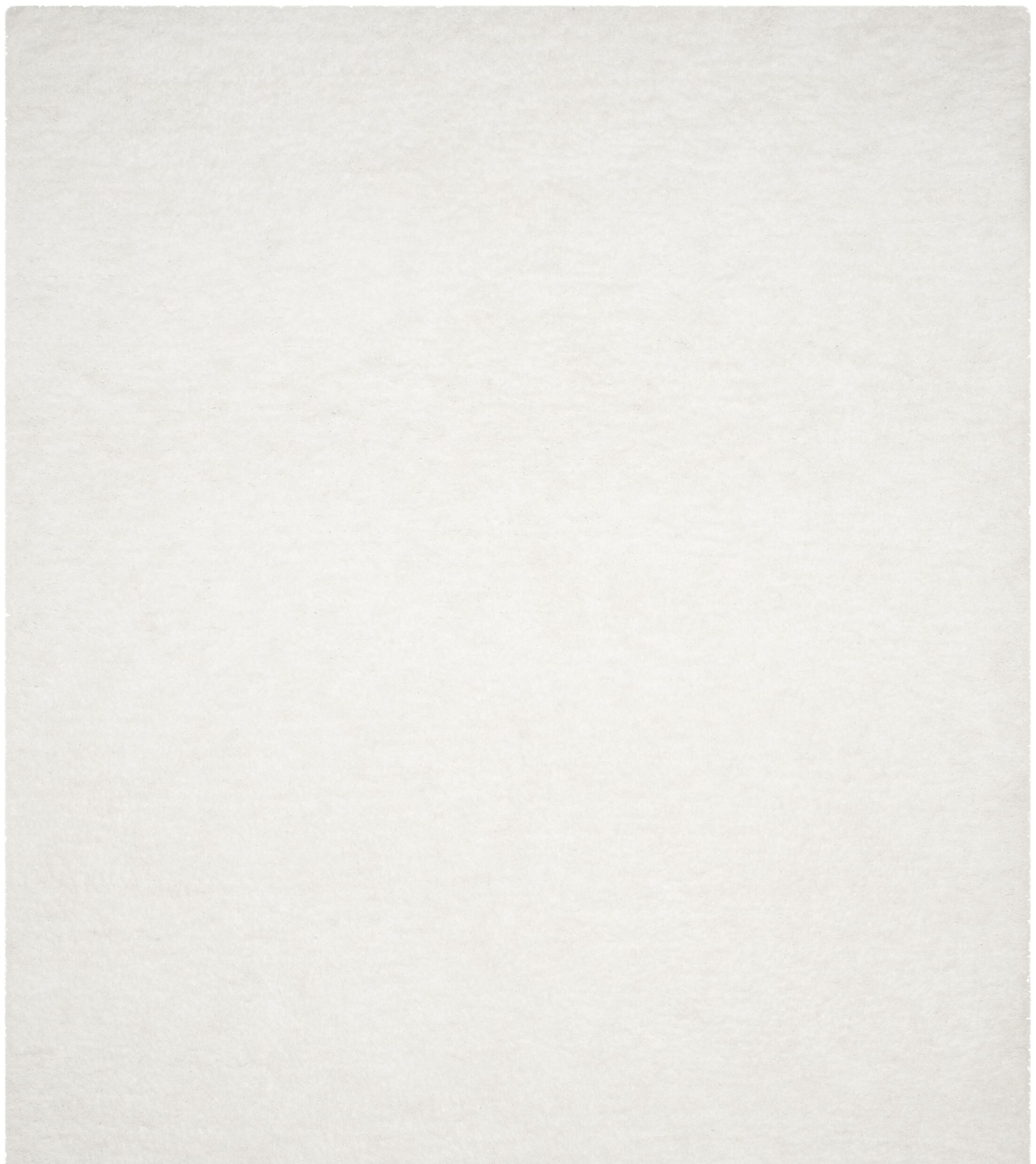 Detweiler Hand-Tufted White Area Rug Rug Size: Rectangle 4' x 6'
