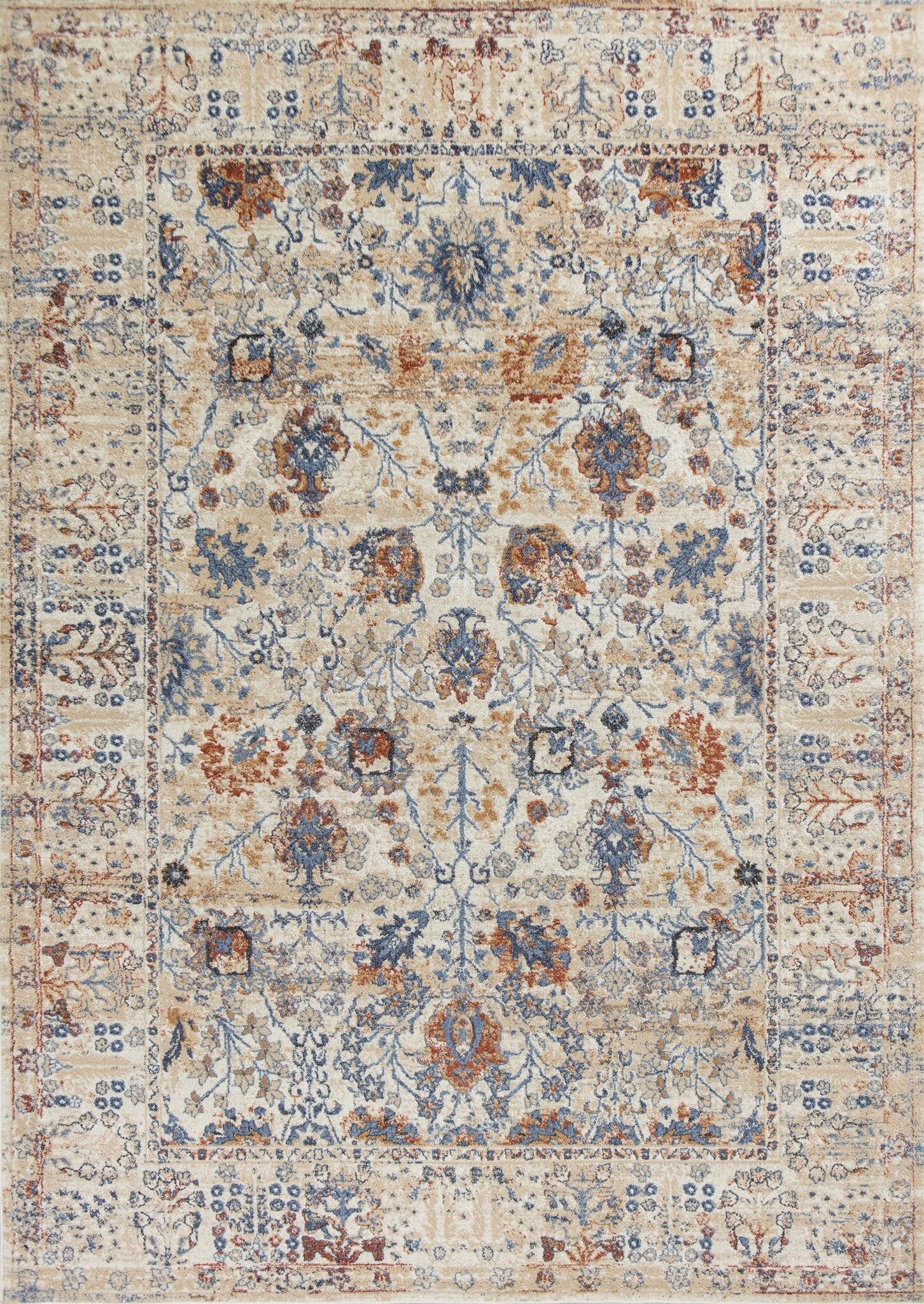 Emmert Beige Area Rug Rug Size: Rectangle 5'3