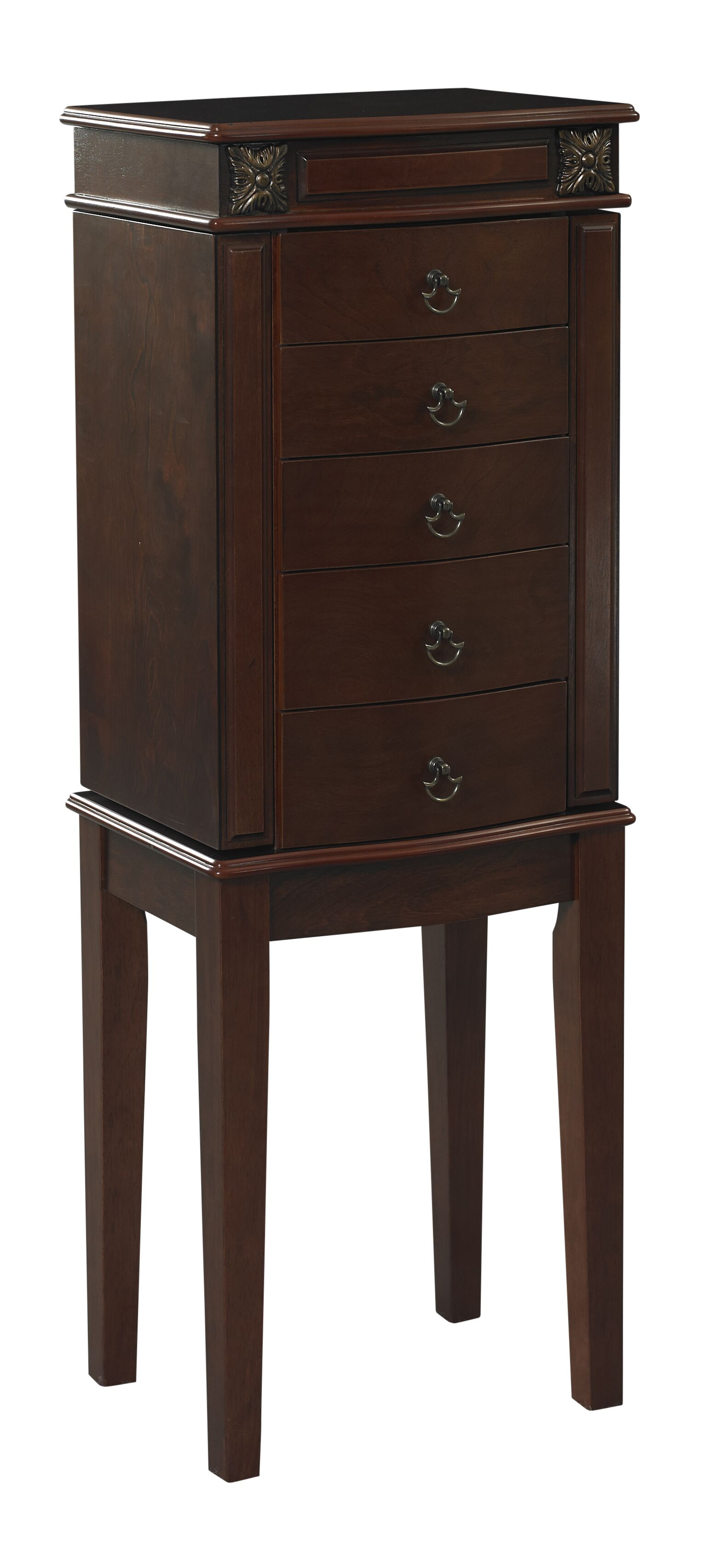 Russellville Free Standing Jewelry Armoire with Mirror