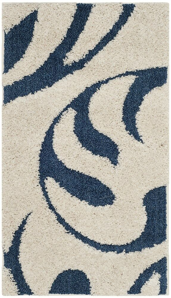 Diederich Blue/White Area Rug Rug Size: Rectangle 6' x 9'