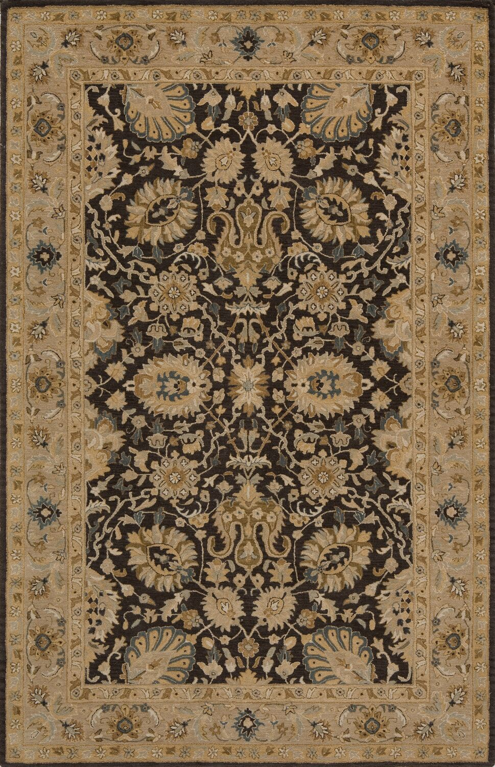 Dearborn Hand-Tufted Charcoal Area Rug Rug Size: Rectangle 2' x 3'