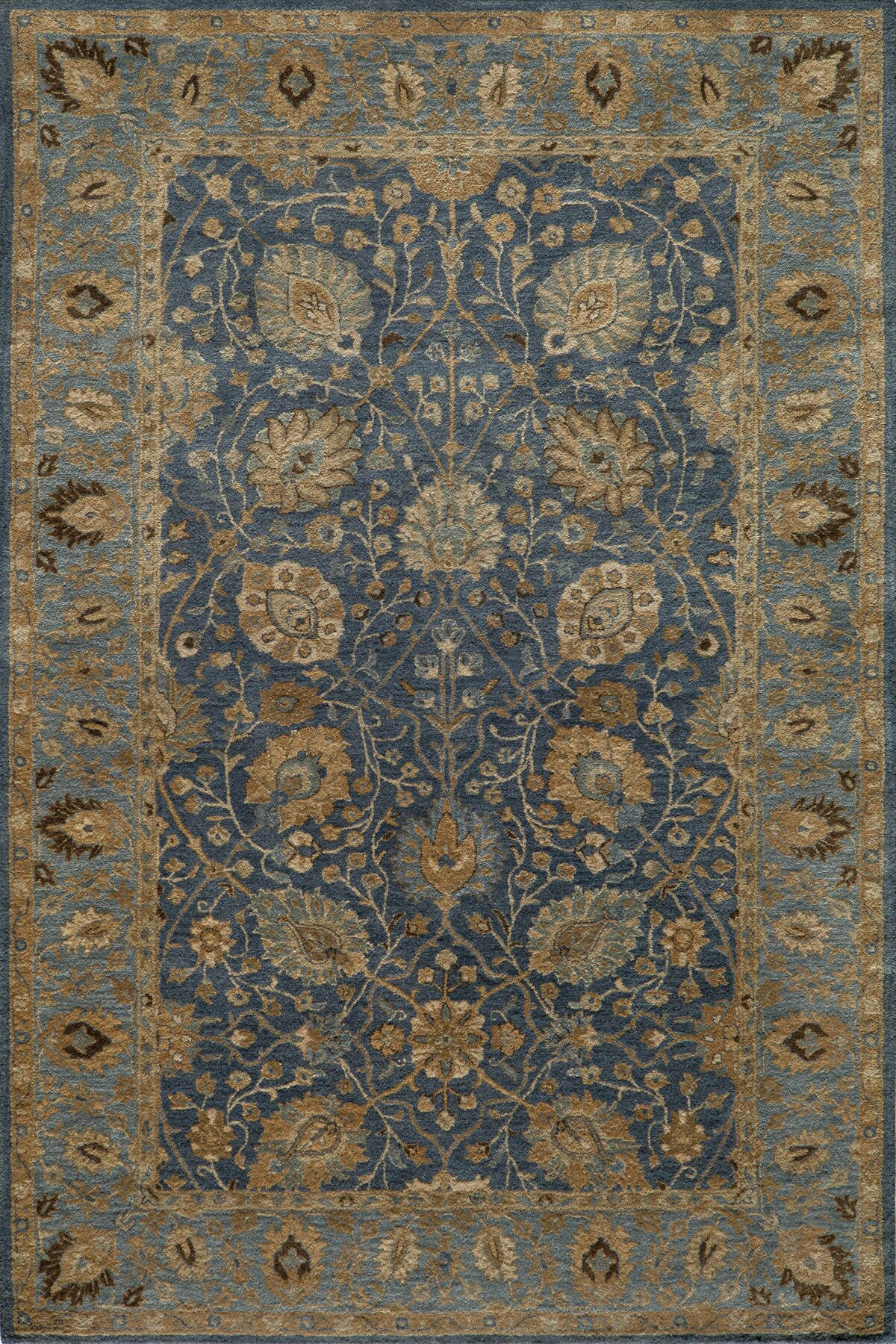 Dearborn Hand-Tufted Blue/Ivory Area Rug Rug Size: Rectangle 9'6