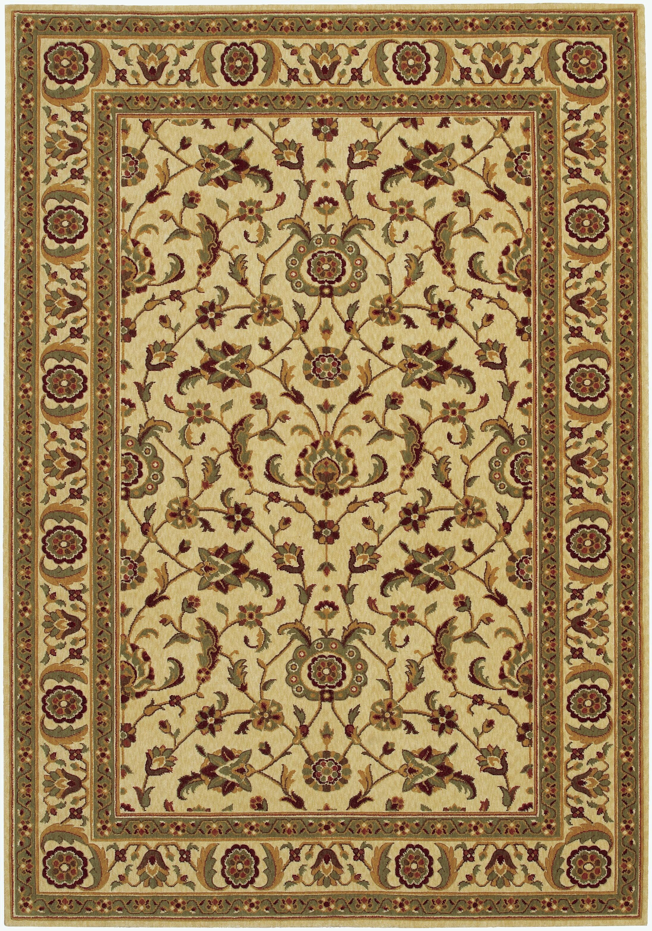 Decatur Linen/Beige Area Rug Rug Size: Rectangle 9'9