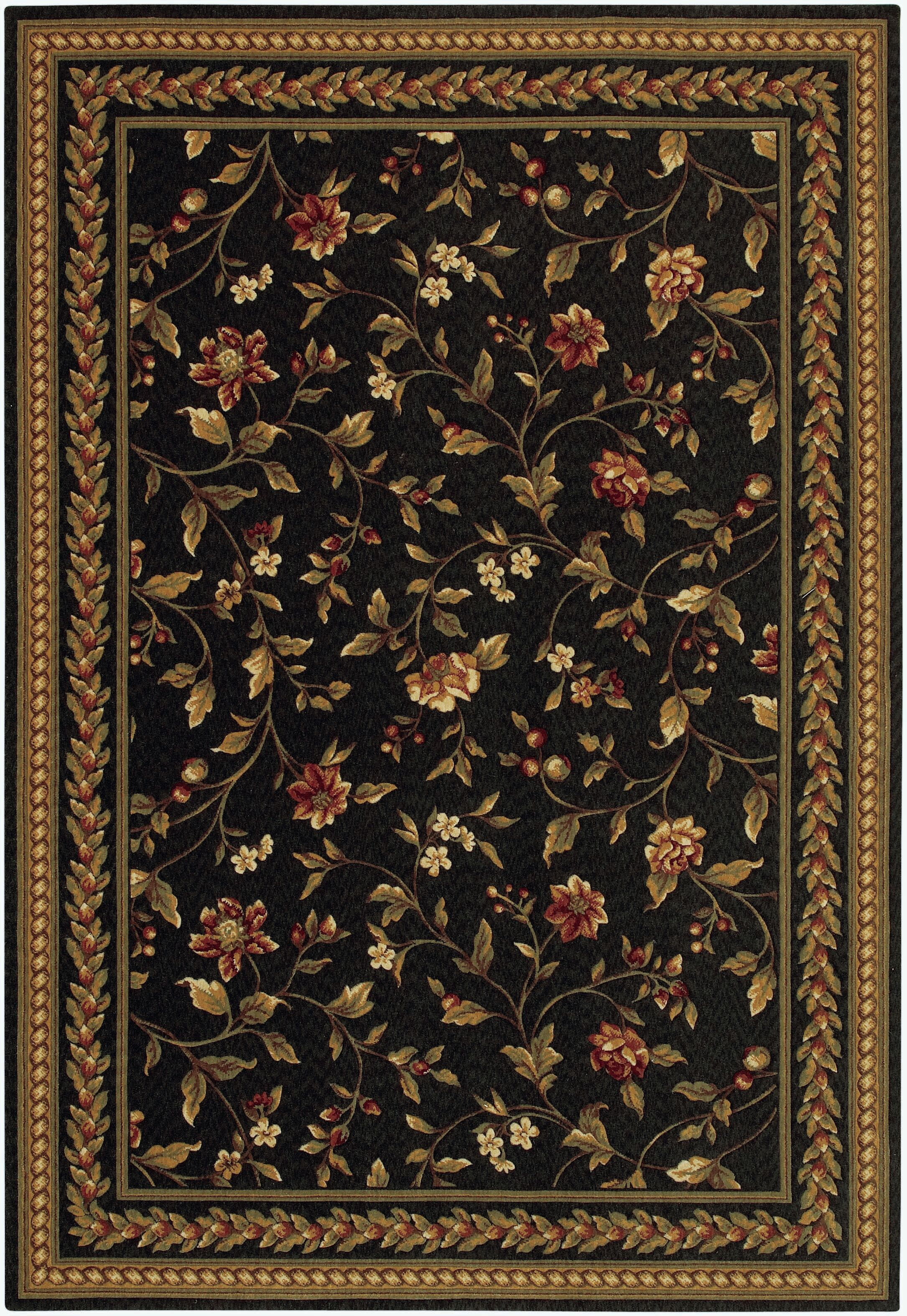 Albertine Black Area Rug Rug Size: Rectangle 4'7