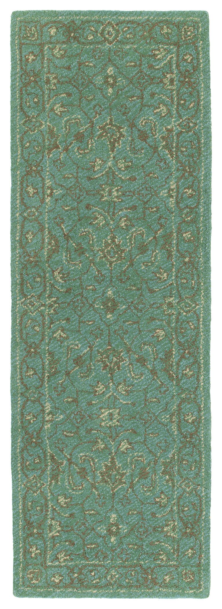 Dittmar Handmade Turquoise Indoor/Outdoor Area Rug Rug Size: Rectangle 8' x 10'