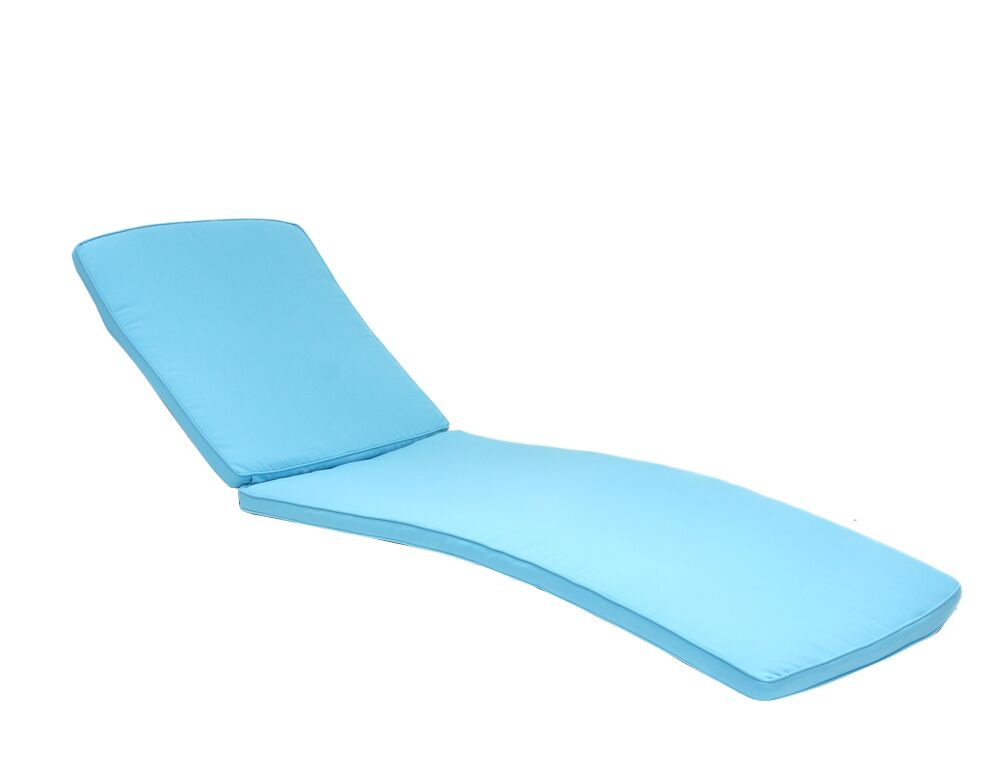 Indoor/Outdoor Chaise Lounger Cushion Color: Turquoise