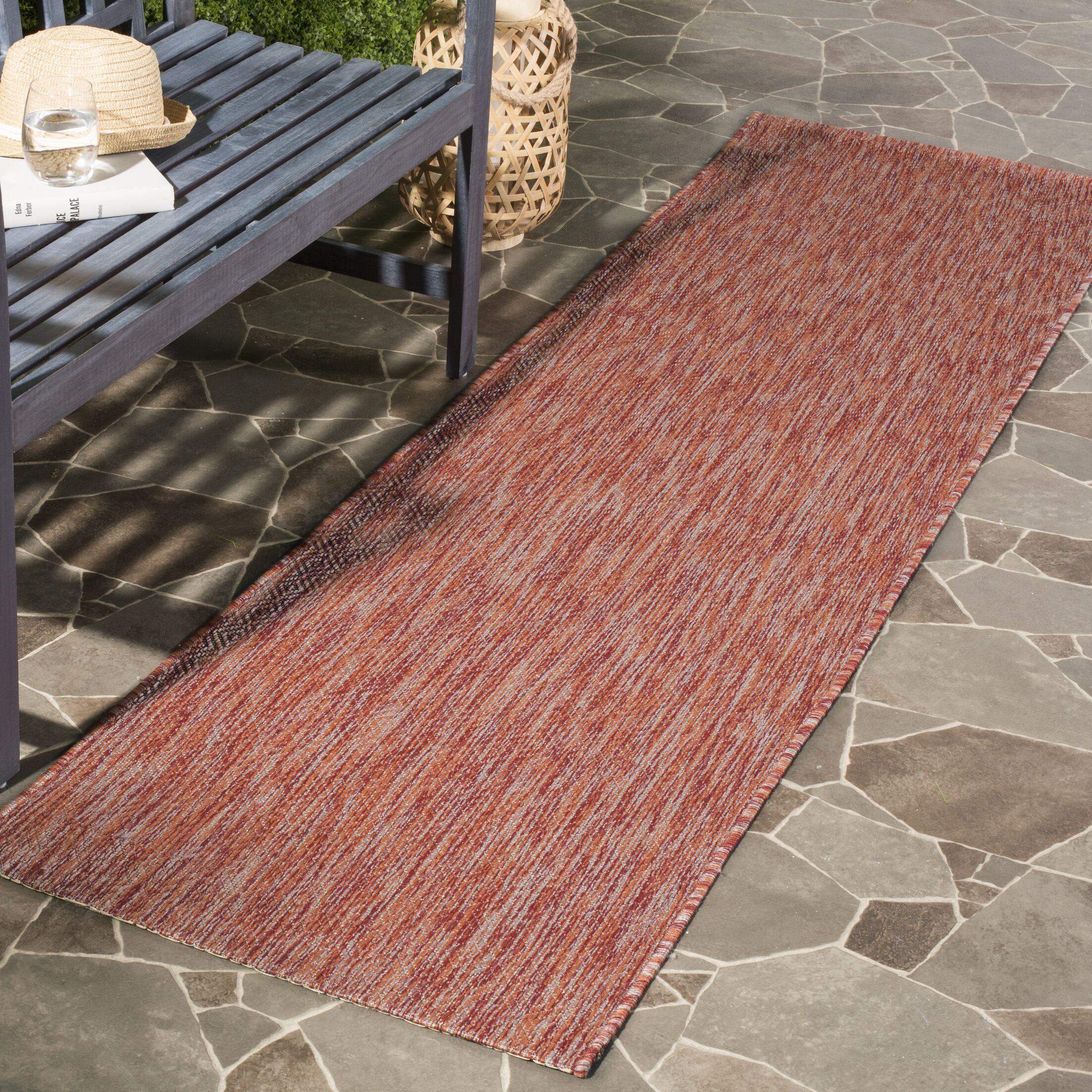 Brodie Red Indoor/Outdoor Area Rug Rug Size: Rectangle 9' x 12'