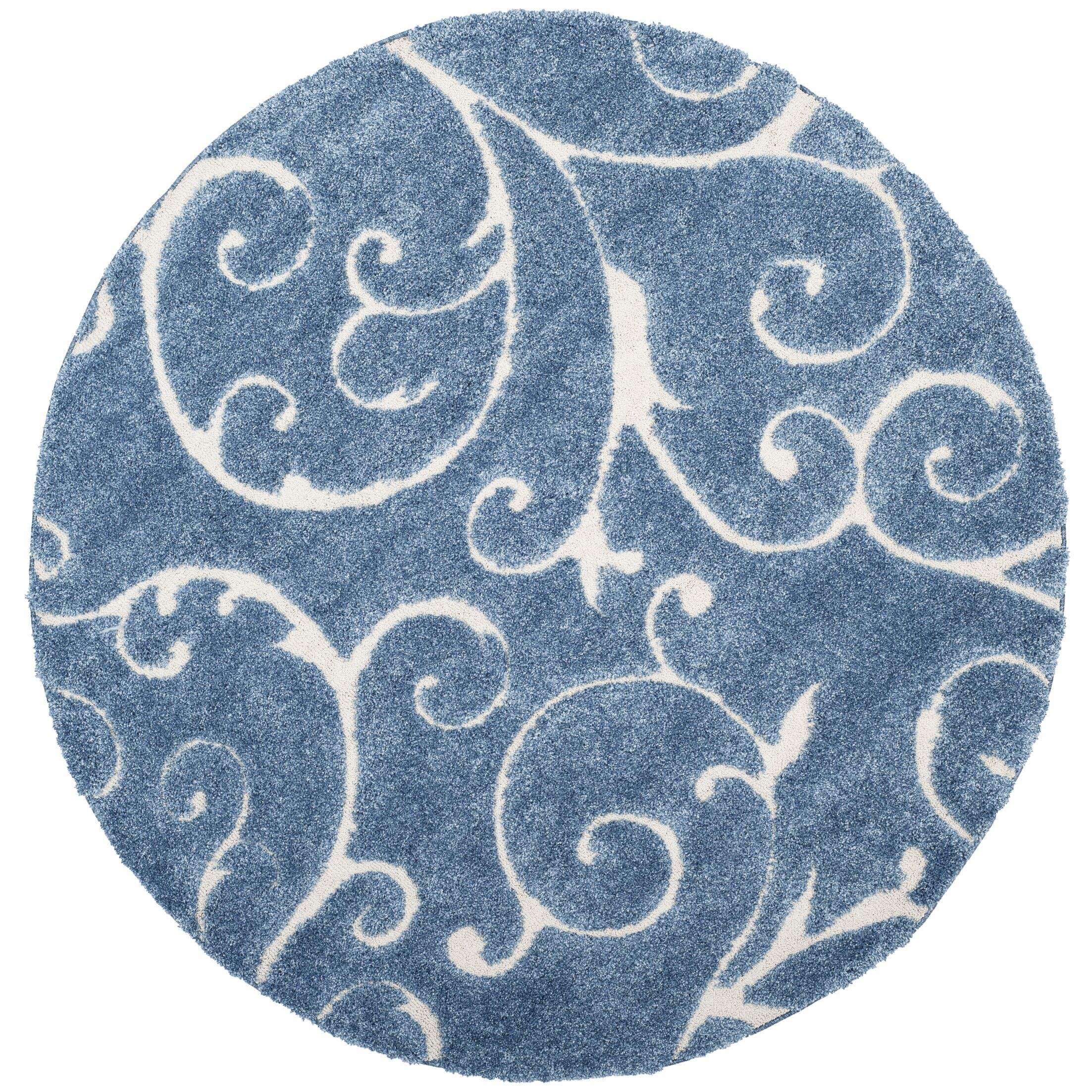 Alison Light Blue / Cream Area Rug Rug Size: 6'-7