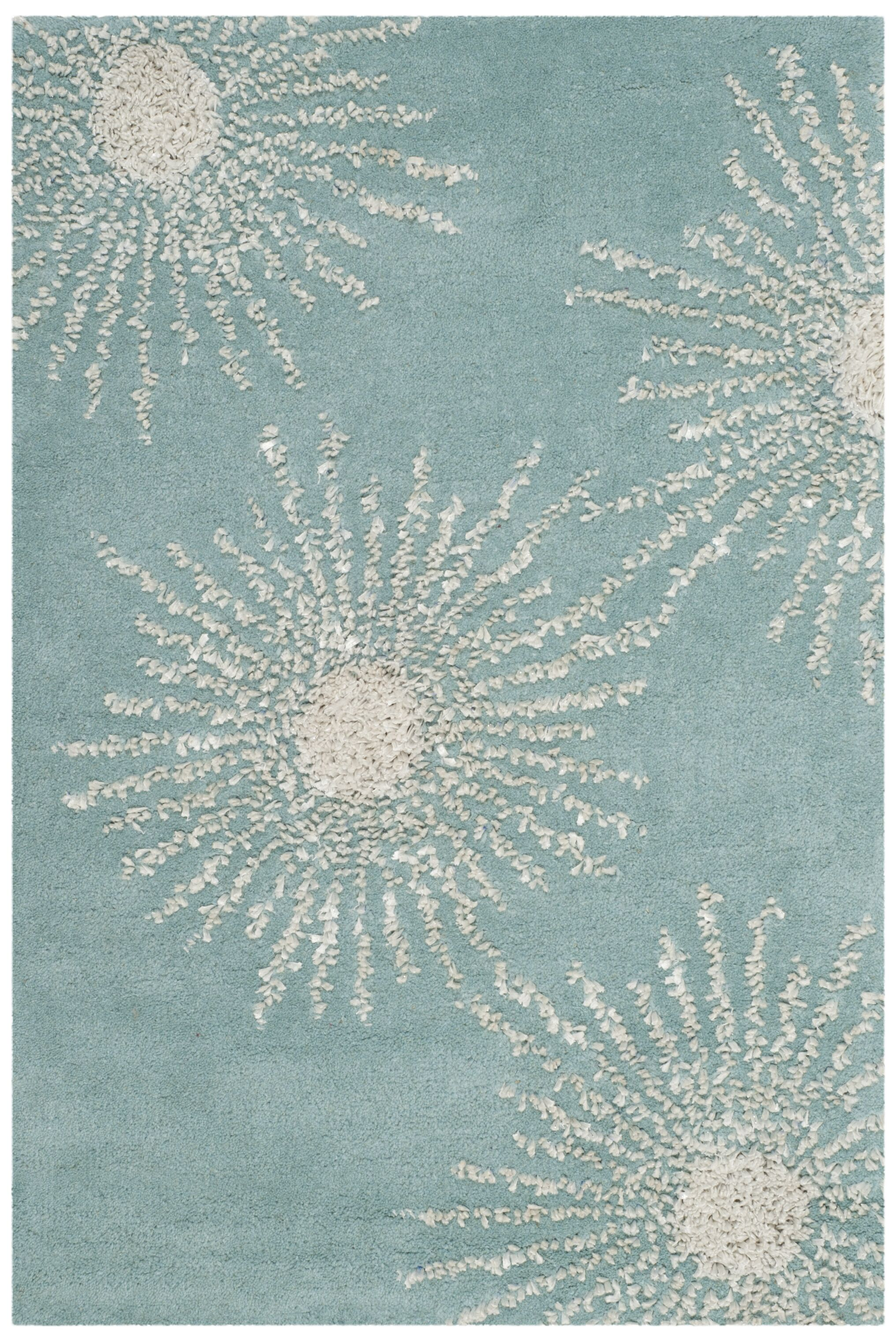 Germain Hand-Tufted Green Area Rug Rug Size: Rectangle 5' x 8'
