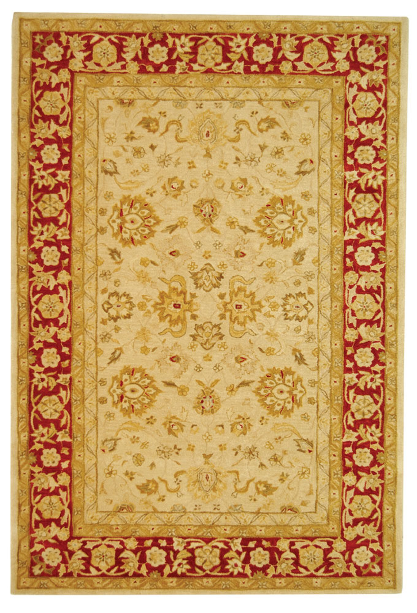 Pritchard Hand-Woven Wool Area Rug Rug Size: Rectangle 6' x 9'
