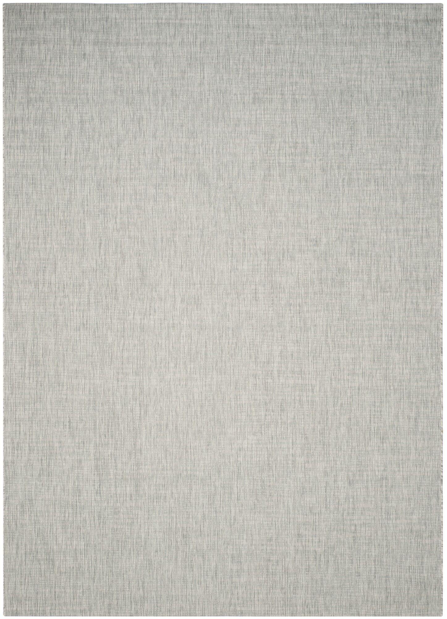 Adelia Gray/Turquoise Indoor/Outdoor Area Rug Rug Size: Rectangle 8' x 11'
