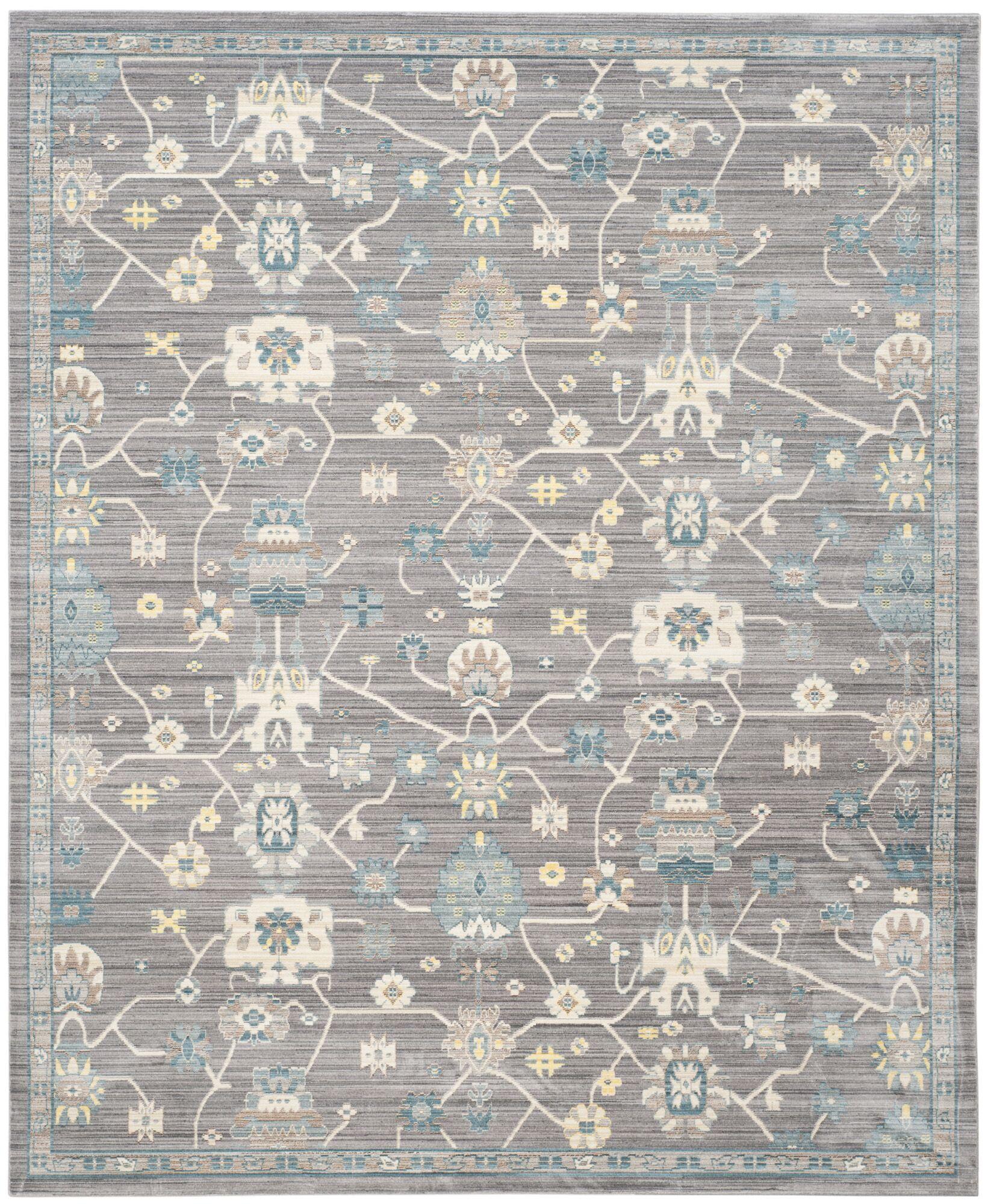 Croghan Gray Area Rug Rug Size: Rectangle 8' x 10'