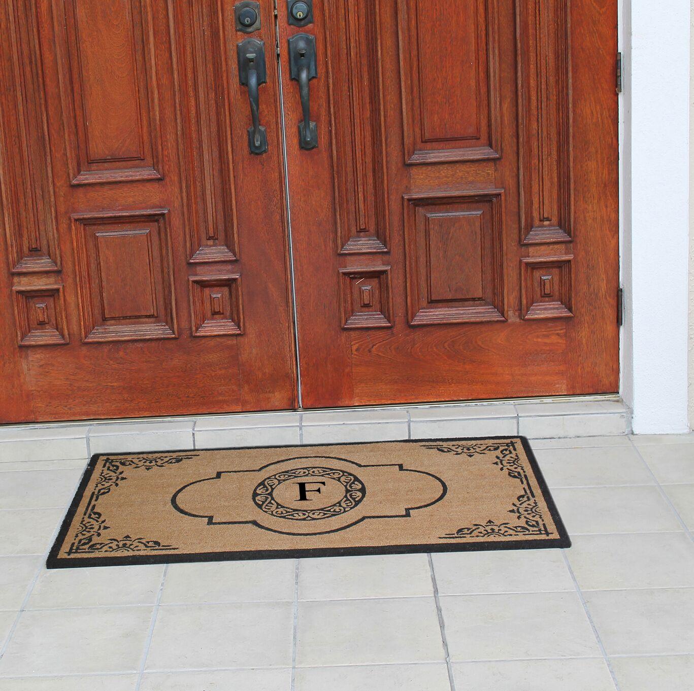 Abbot Bridge Monogrammed Doormat Letter: F