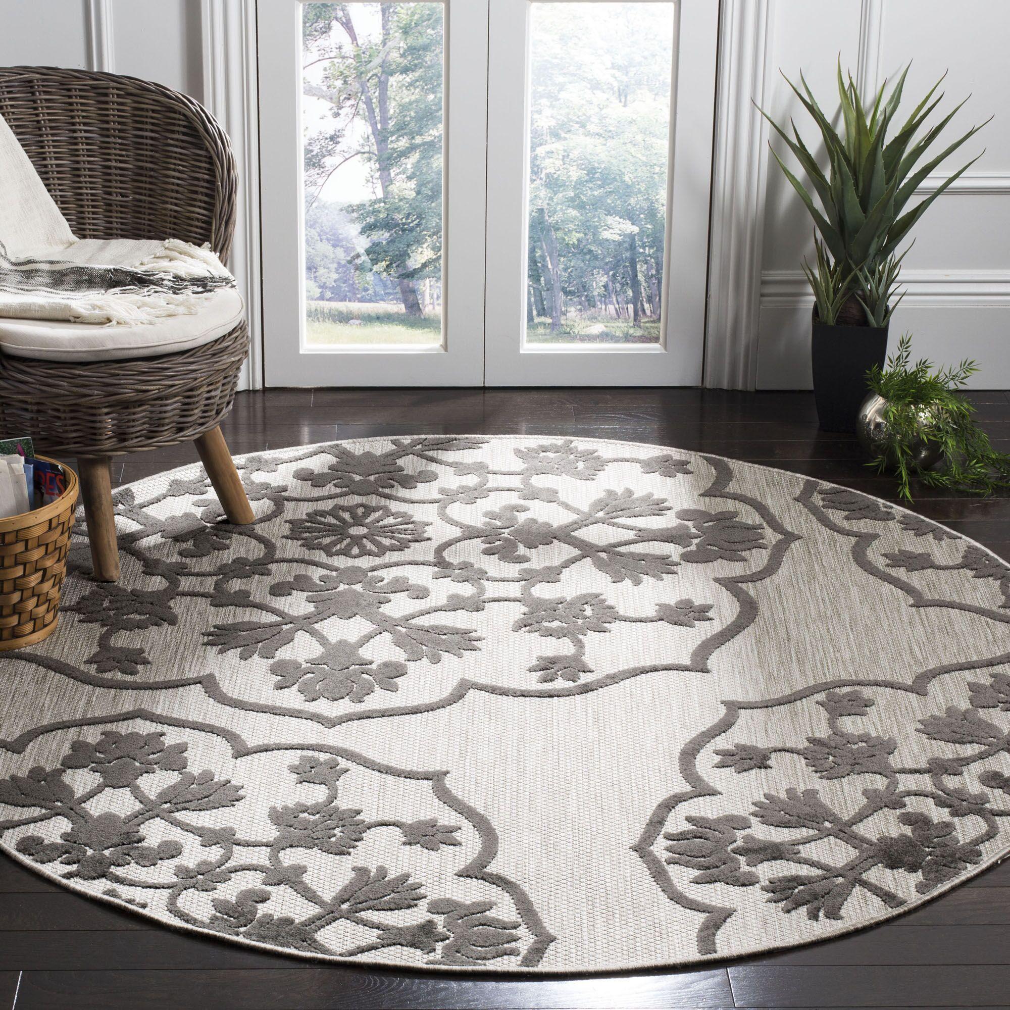 Oakmont Indoor/Outdoor Area Rug Rug Size: Round 6'7