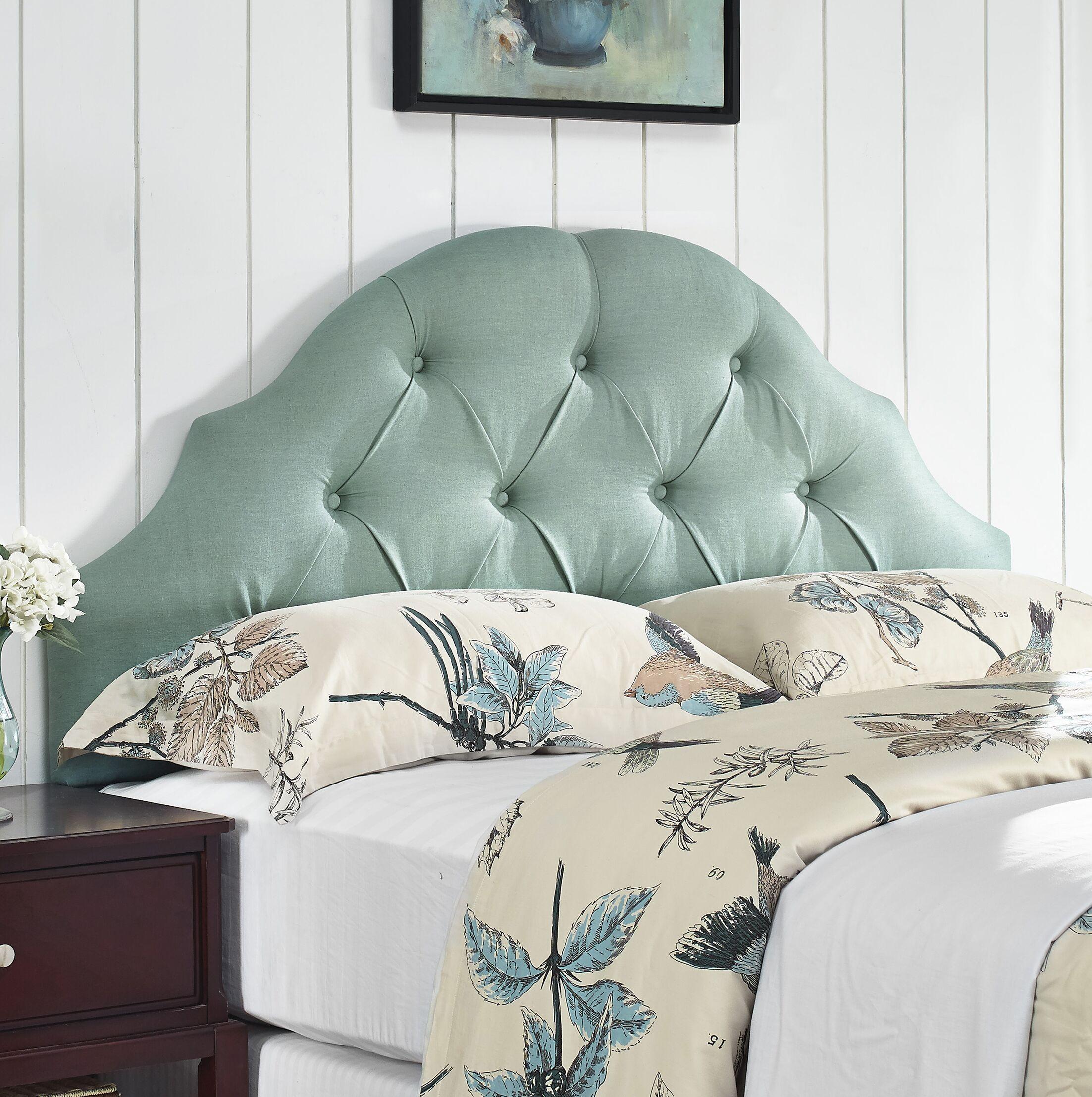 Joyce Upholstered Panel Headboard Size: Full/Queen, Upholstery: Sea Mist