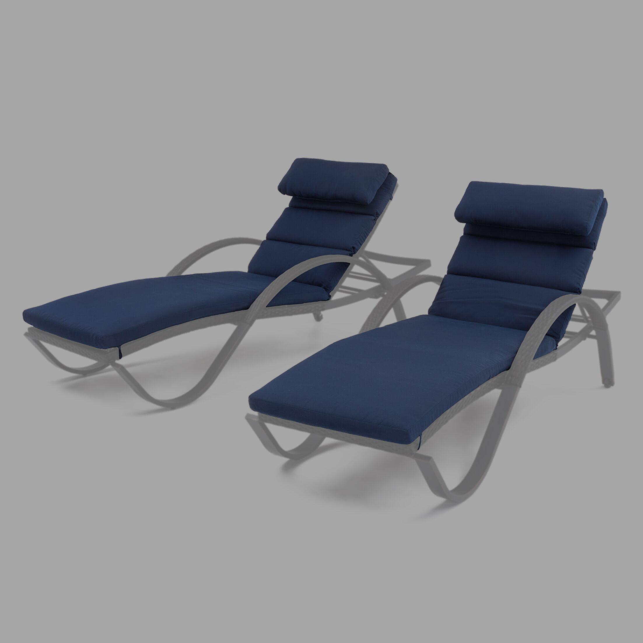 Northridge Outdoor Sunbrella Chaise Lounge Cushions Fabric: Navy