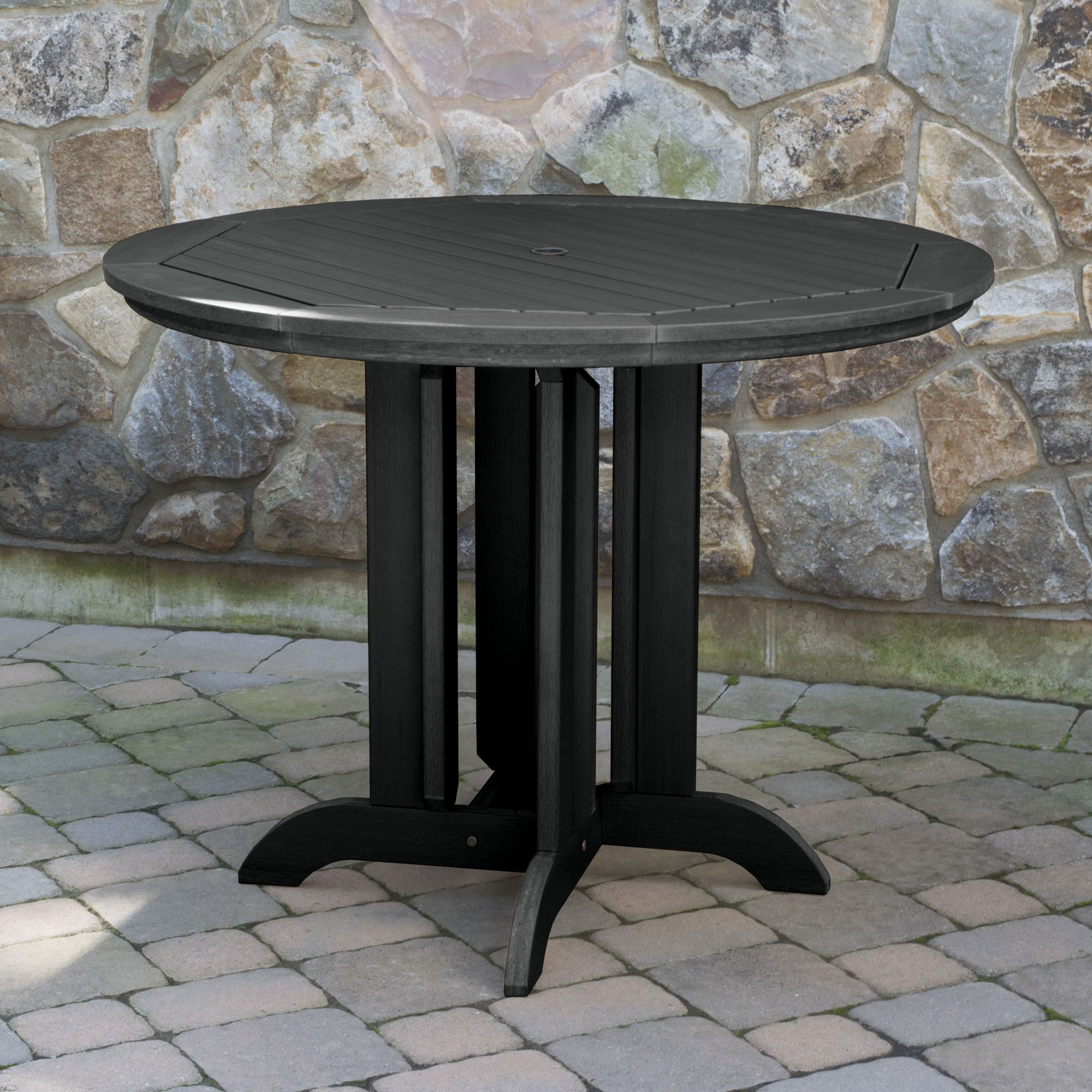 Tion Dining Table Finish: Black, Table Size: 36