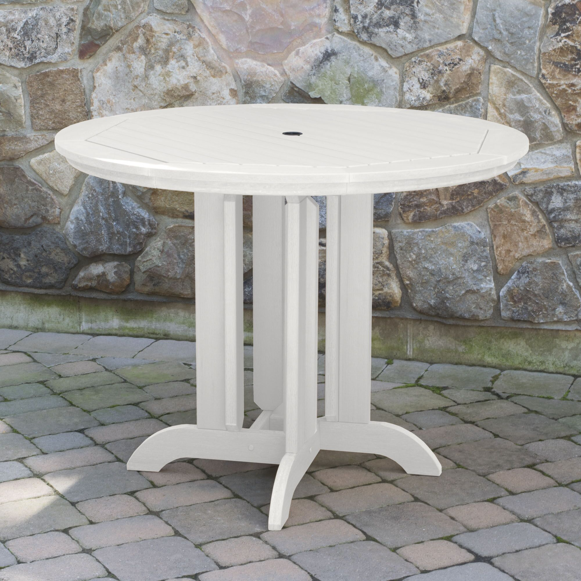 Tion Dining Table Finish: White, Table Size: 48