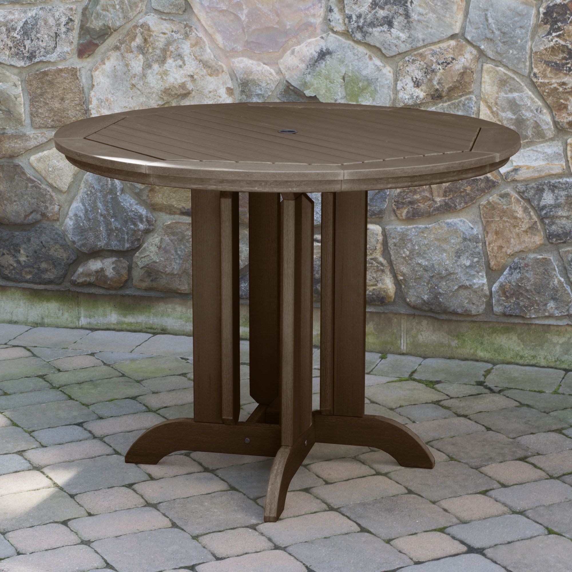 Tion Dining Table Finish: Weathered Acorn, Table Size: 48