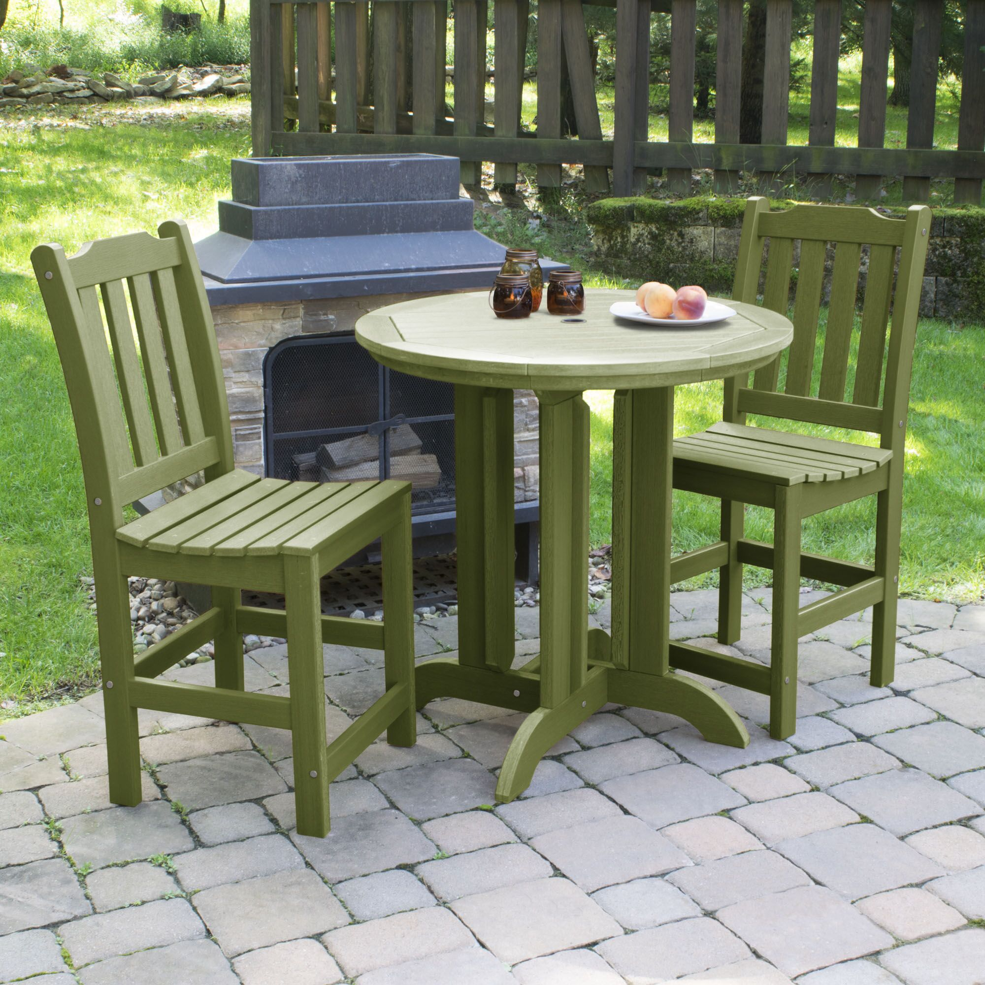 Cassell 3 Piece Dining Set Color: Dried Sage
