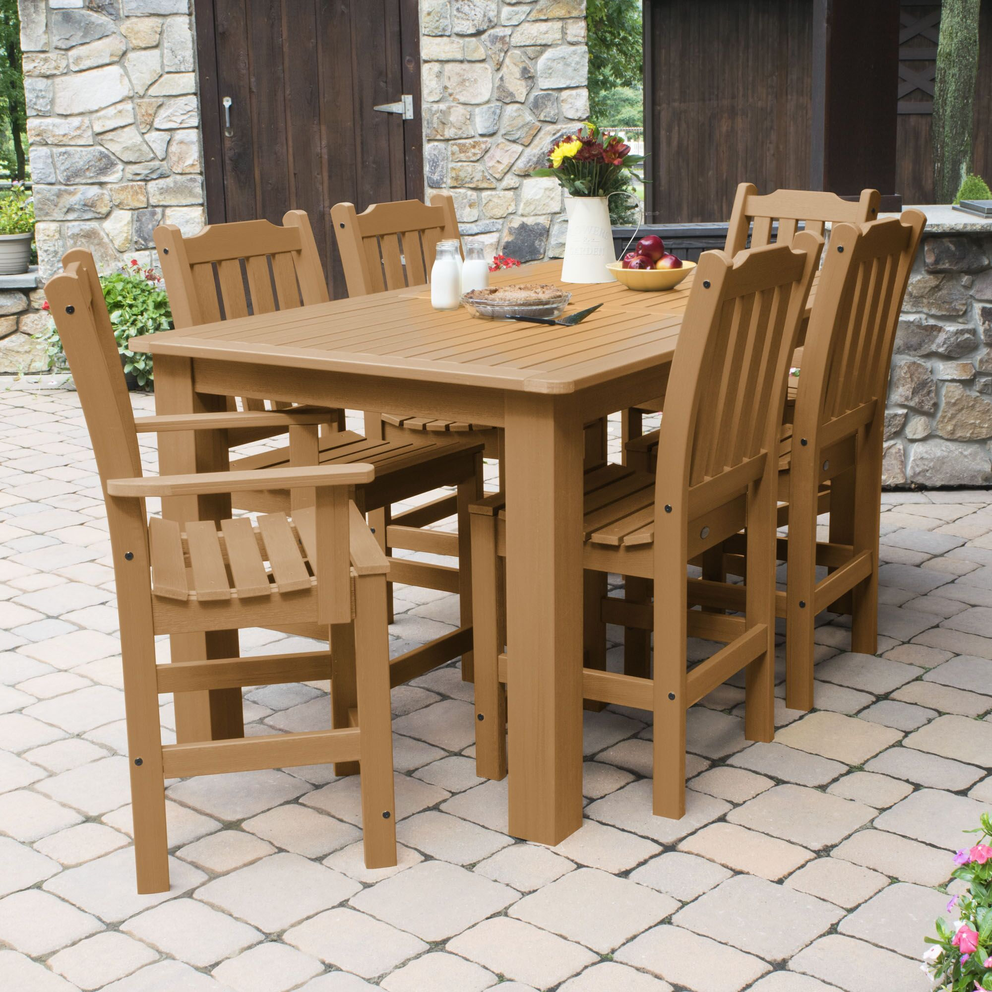 Billups 7 Piece Dining Set Color: Toffee, Table Top Size: 43.3'' H x 55.5'' W x 86.5'' L