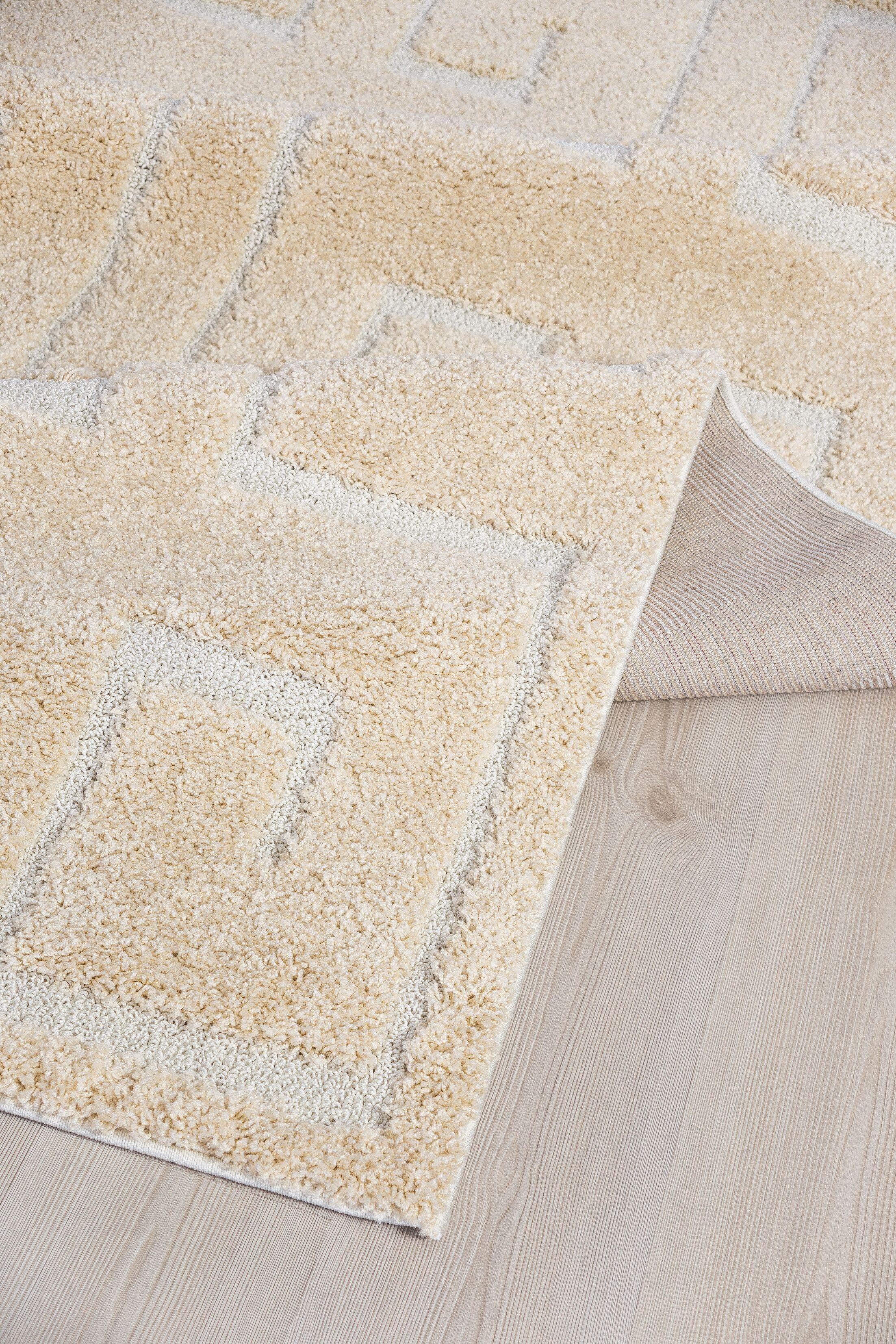 Artz Beige/White Area Rug Size: 8' x 10'