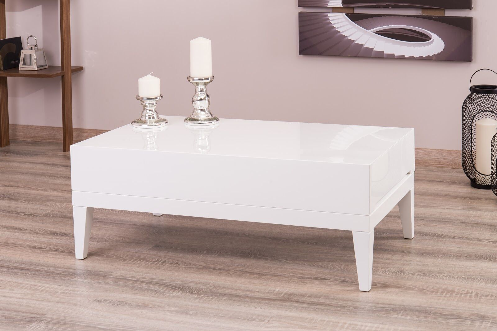 Ahrens Coffee Table Color: White